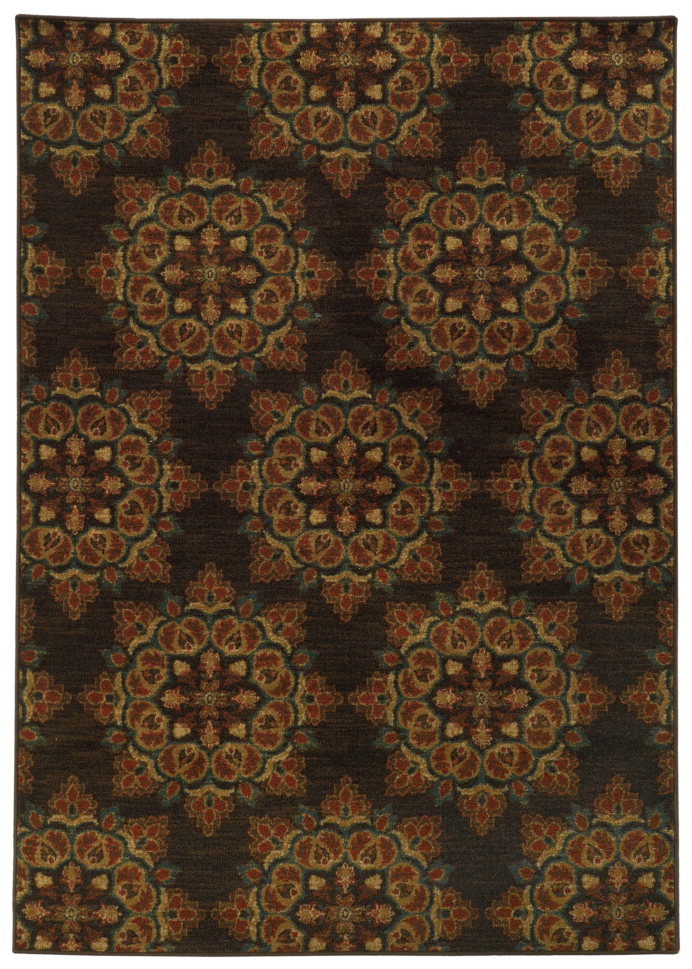Prince Brown/Black Area Rug Rug Size: Rectangle 6'7