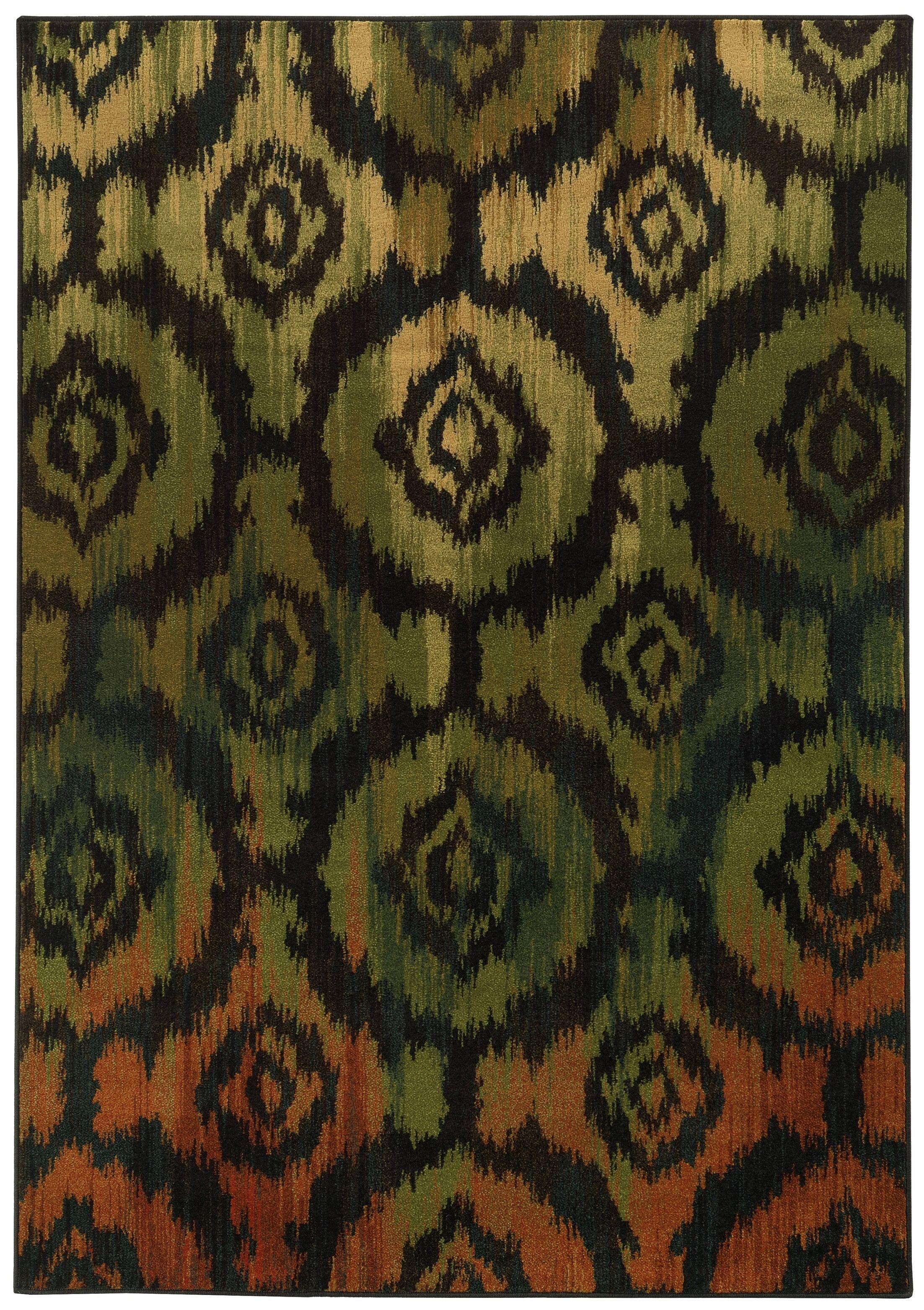Prince Modern Black/Green Area Rug Rug Size: Rectangle 3'10