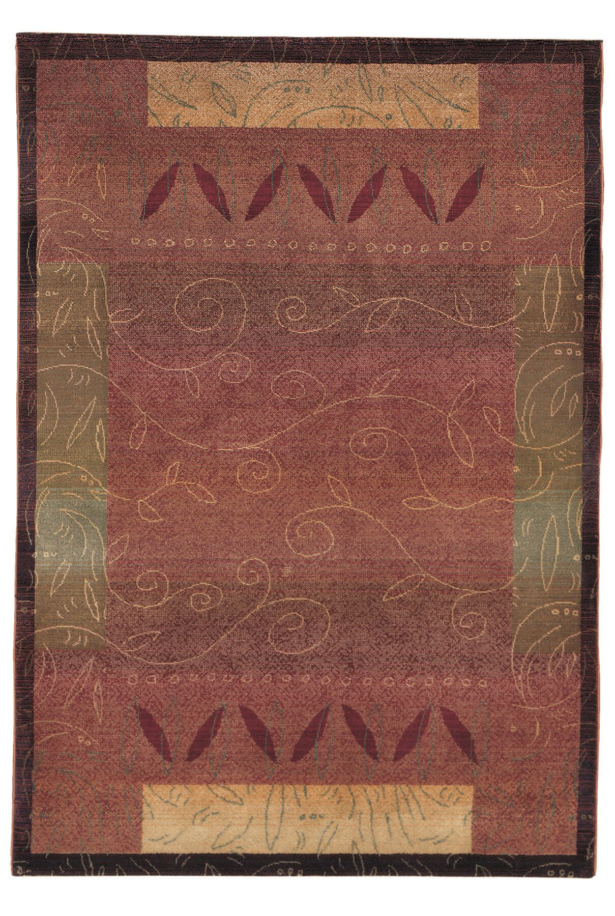 Rosabel Red/Gold Area Rug Rug Size: Rectangle 2'3