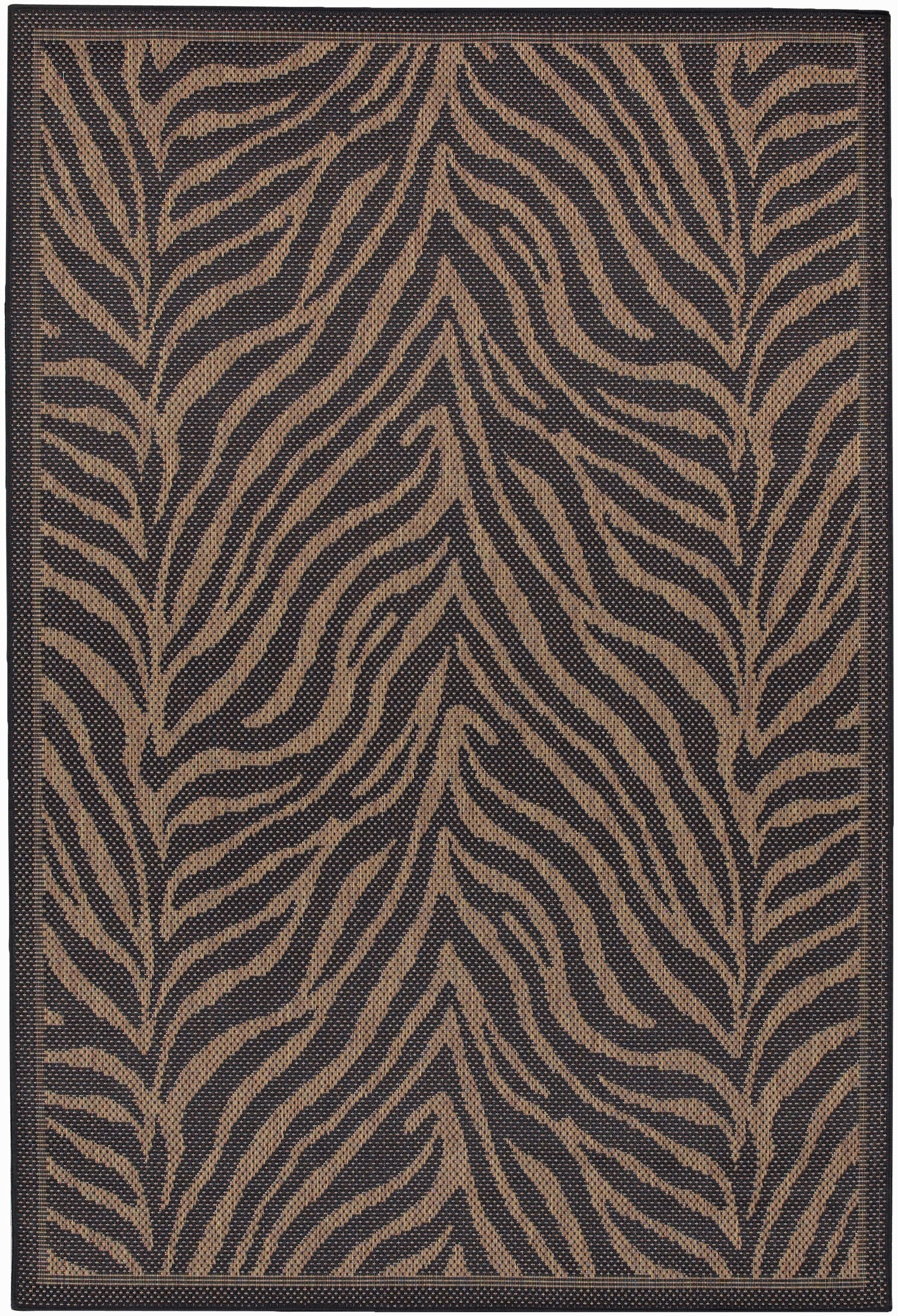 Sawtelle Black Indoor/Outdoor Area Rug Rug Size: Rectangle 5'10