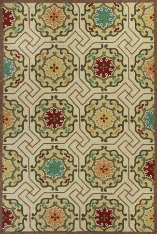 Wentworth Ivory Mosaic Outdoor Rug Rug Size: Round 7'6