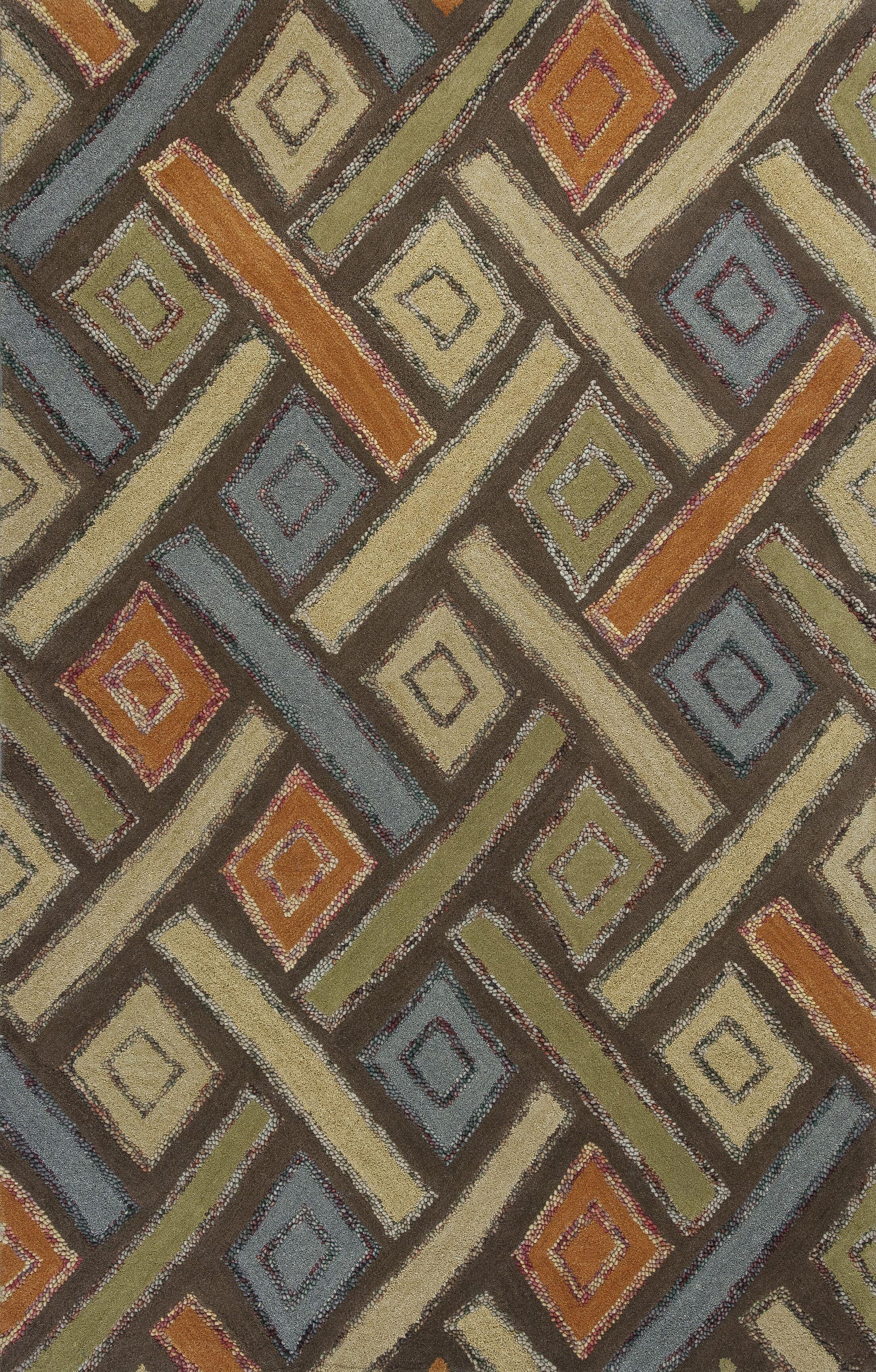 Roosendaal Mocha Windows Area Rug Rug Size: 8' x 10'6