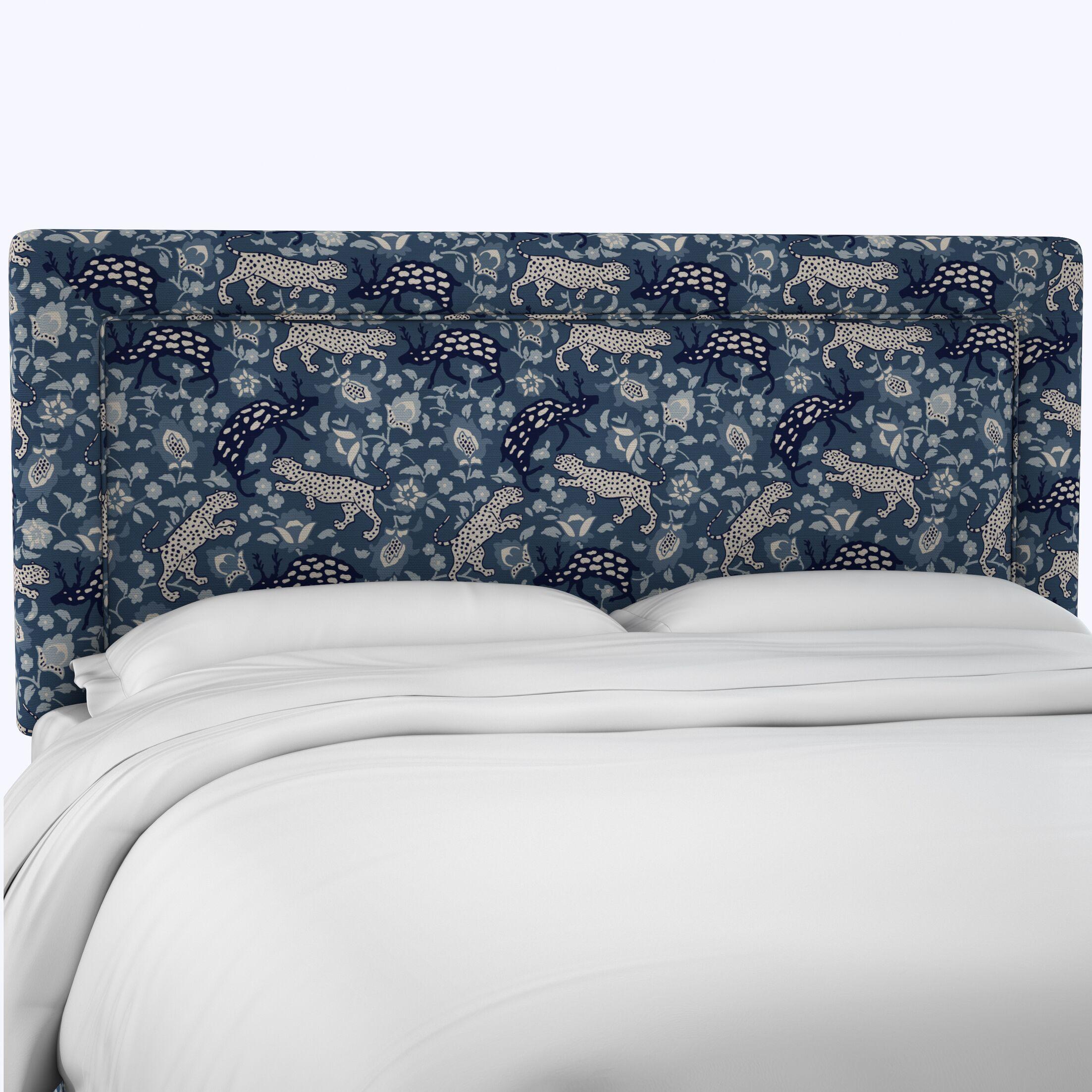Freeborn Linen Upholstered Panel Headboard Size: King
