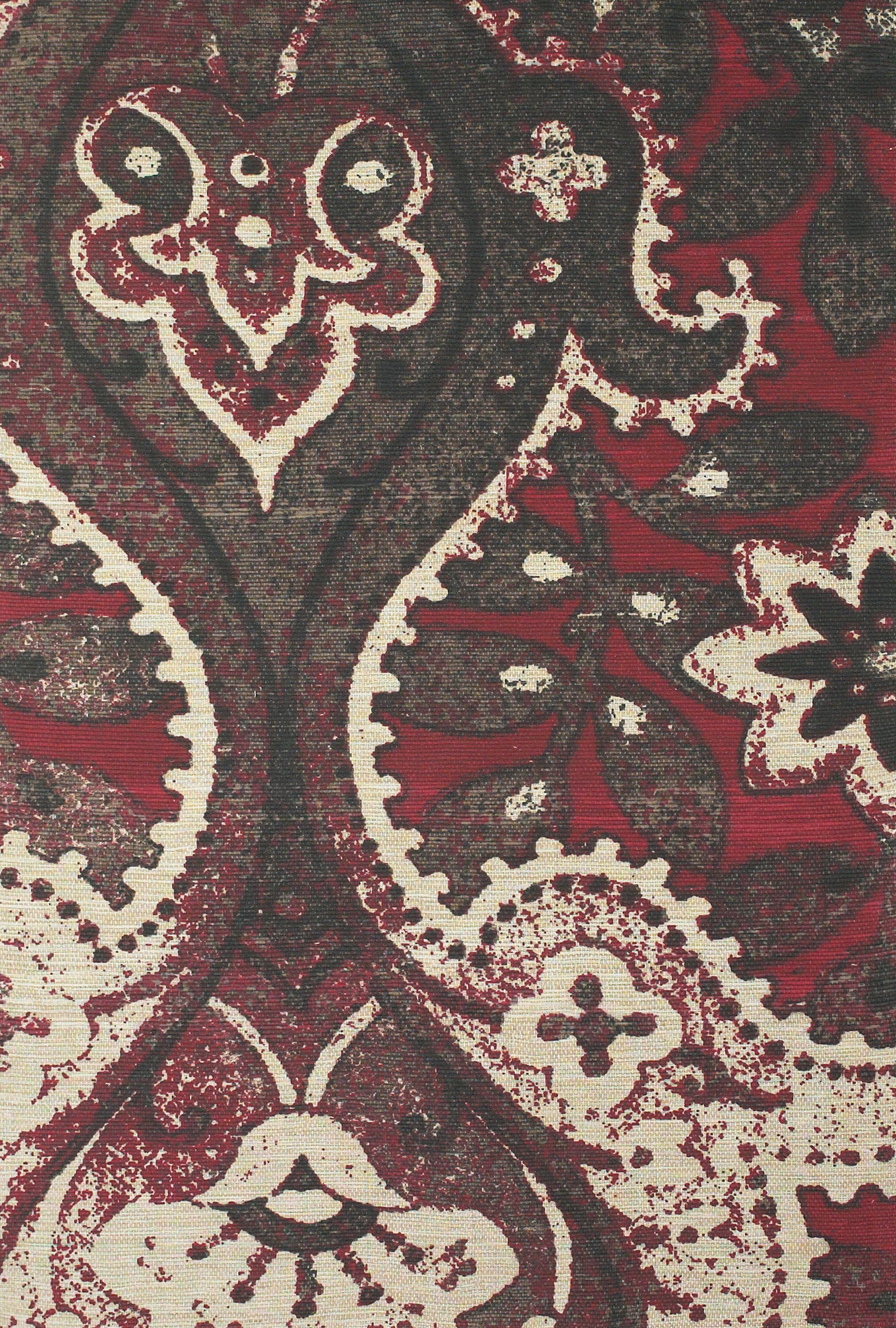 Joshawn Hand-Loomed Black/Red Area Rug Rug Size: Rectangle 5' x 8'
