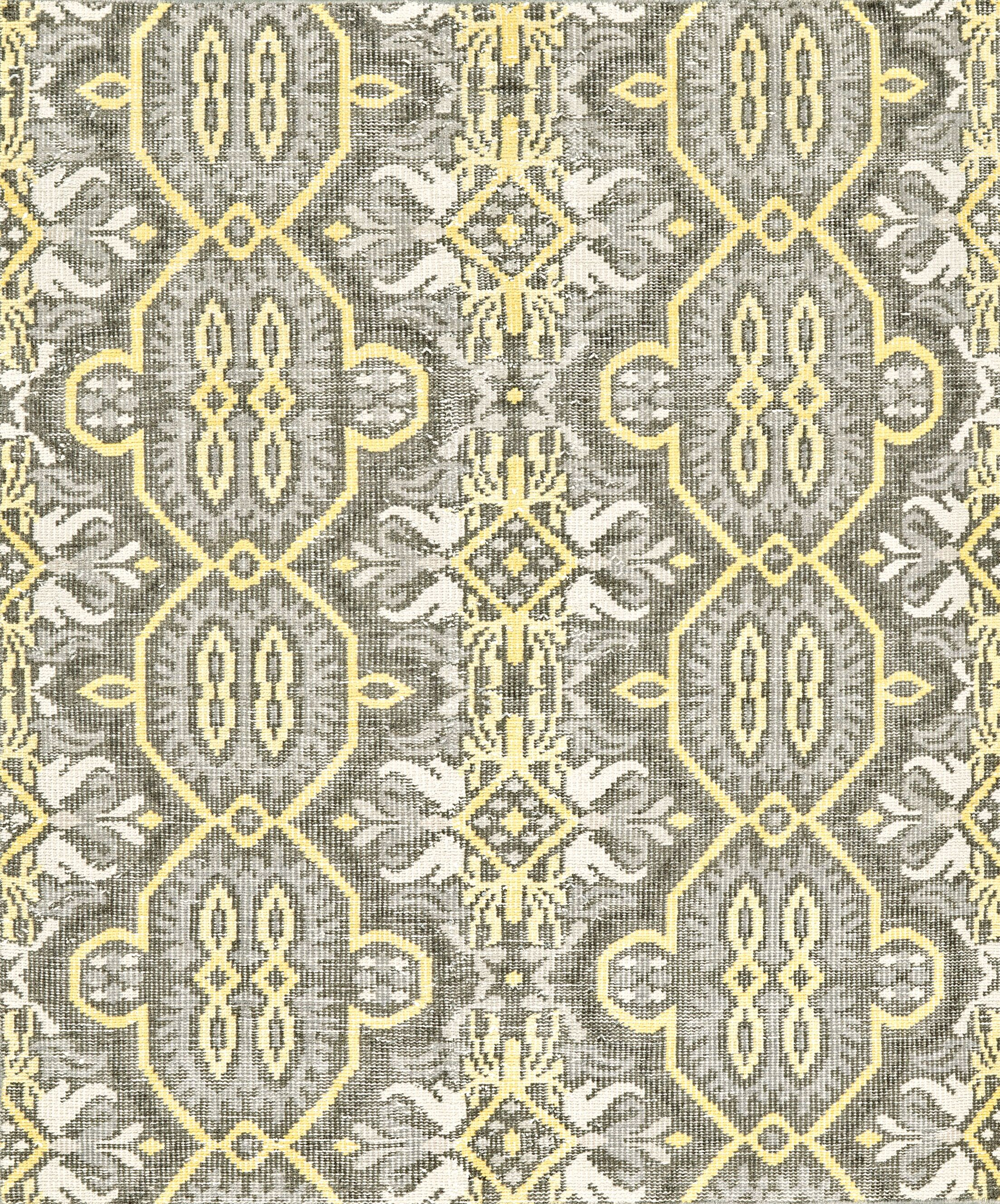 Deija Hand-Knotted Wool Maize Area Rug Rug Size: Rectangle 5'6