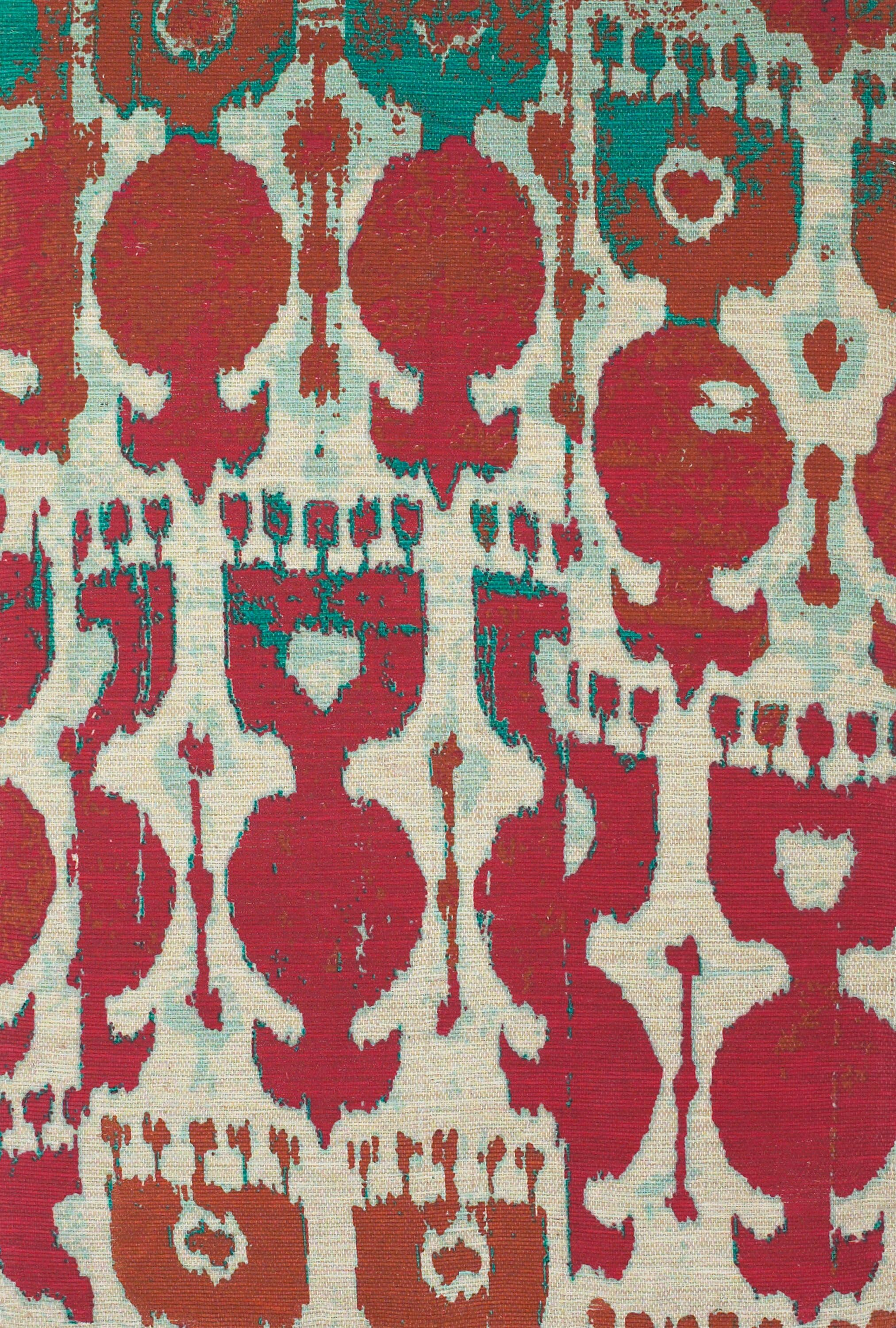 Abram Hand-Loomed Red/Teal Area Rug Rug Size: Rectangle 8' x 11'