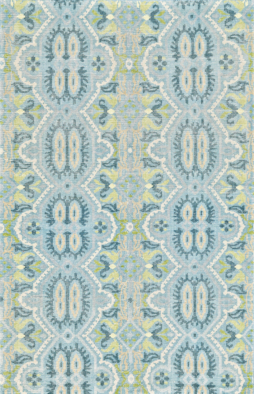 Deija Hand-Knotted Celadon Area Rug Rug Size: Rectangle 8'6