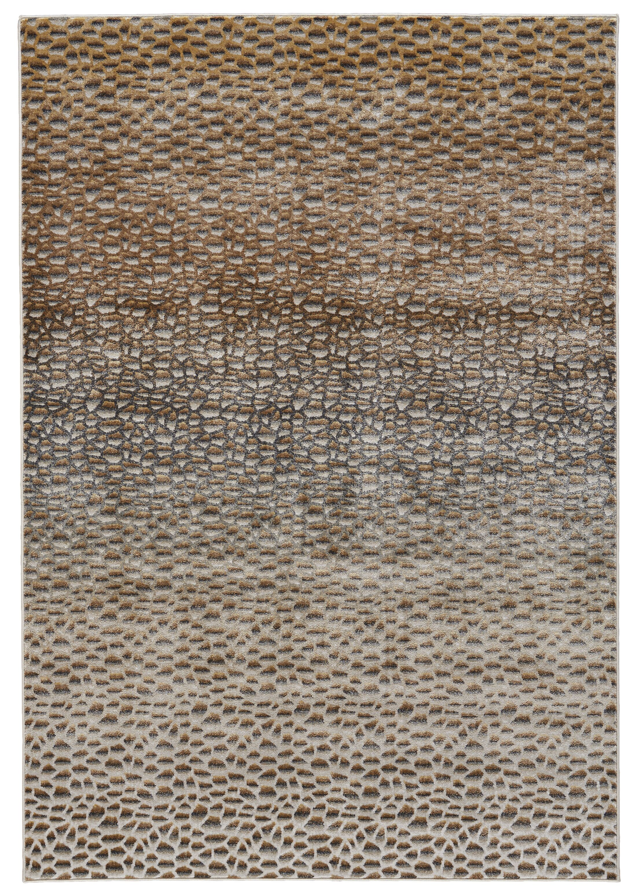 JoLinda Dark Gold Area Rug Rug Size: Rectangle 10' x 13'2