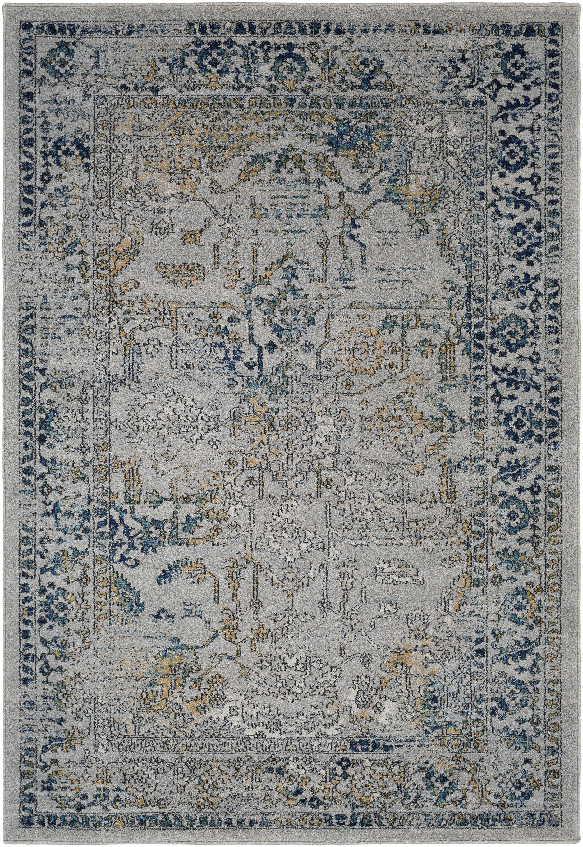 Cassian Oriental Teal/Taupe Area Rug Rug Size: Rectangle 5'3