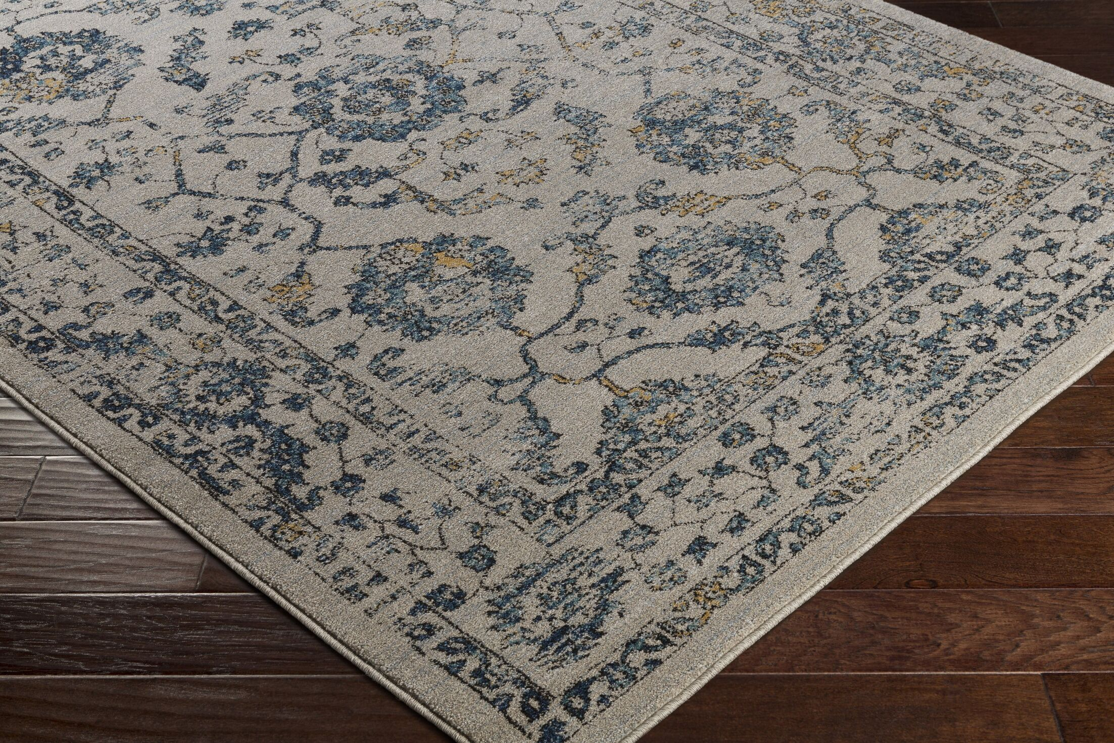 Cassian Neutral Teal/Taupe Area Rug Rug Size: Rectangle 5'3