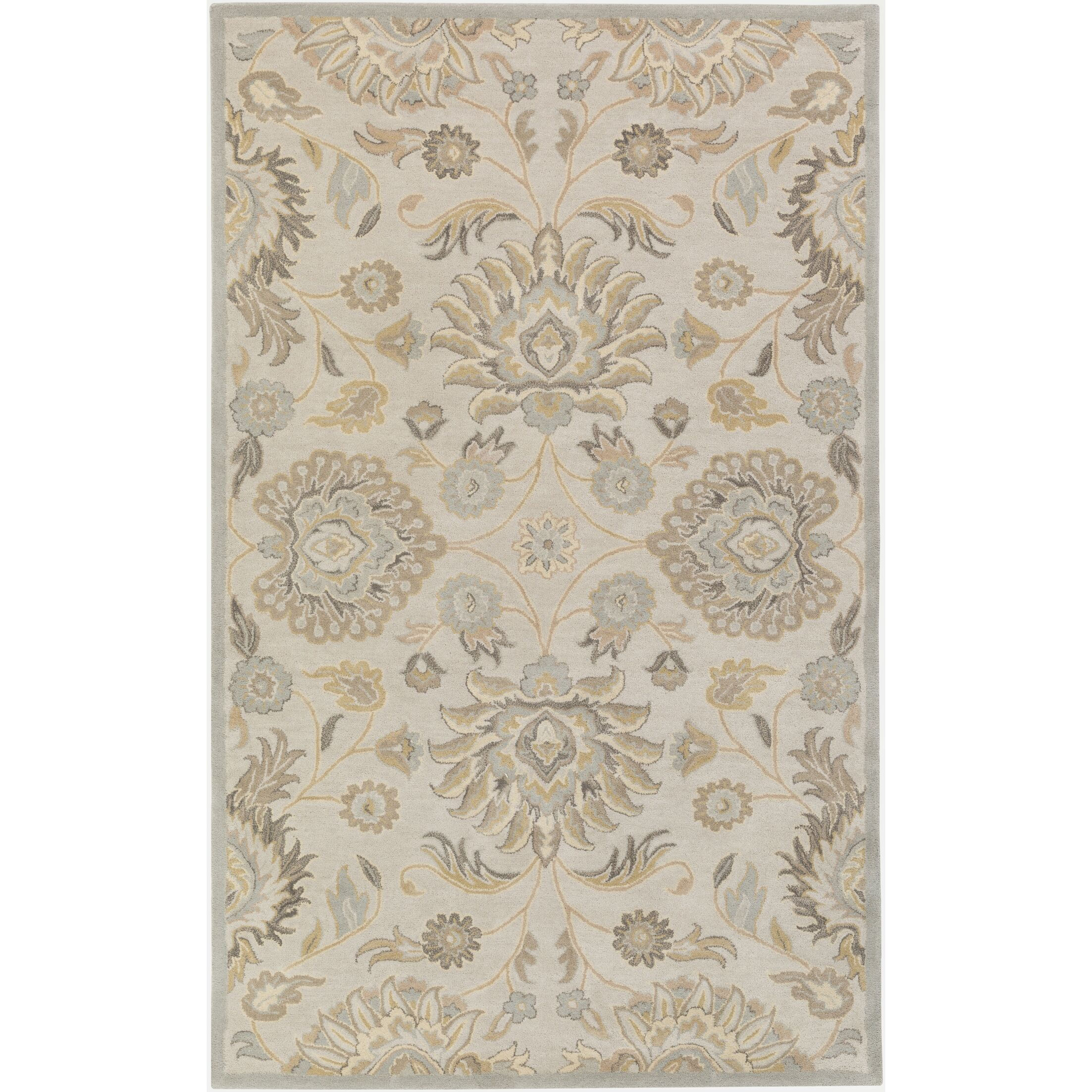 Topaz Hand-Tufted Light Gray/Khaki Area Rug Rug Size: Round 9'9