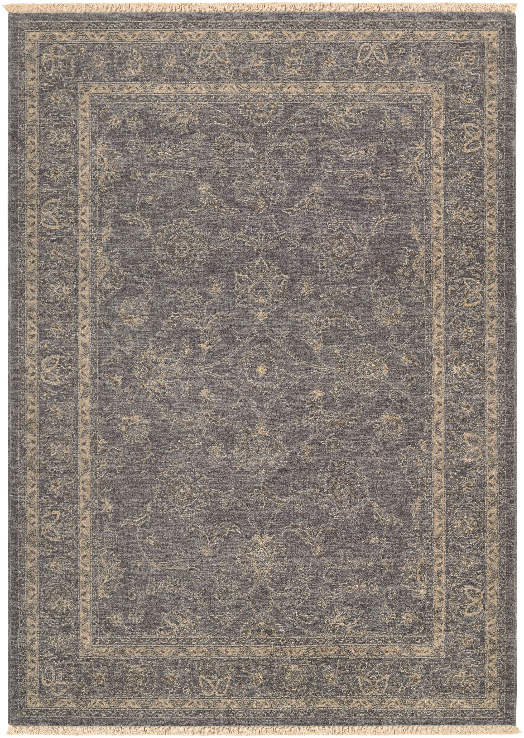 Nickalos Dusty Blue/Beige Area Rug Rug Size: Rectangle 9'10