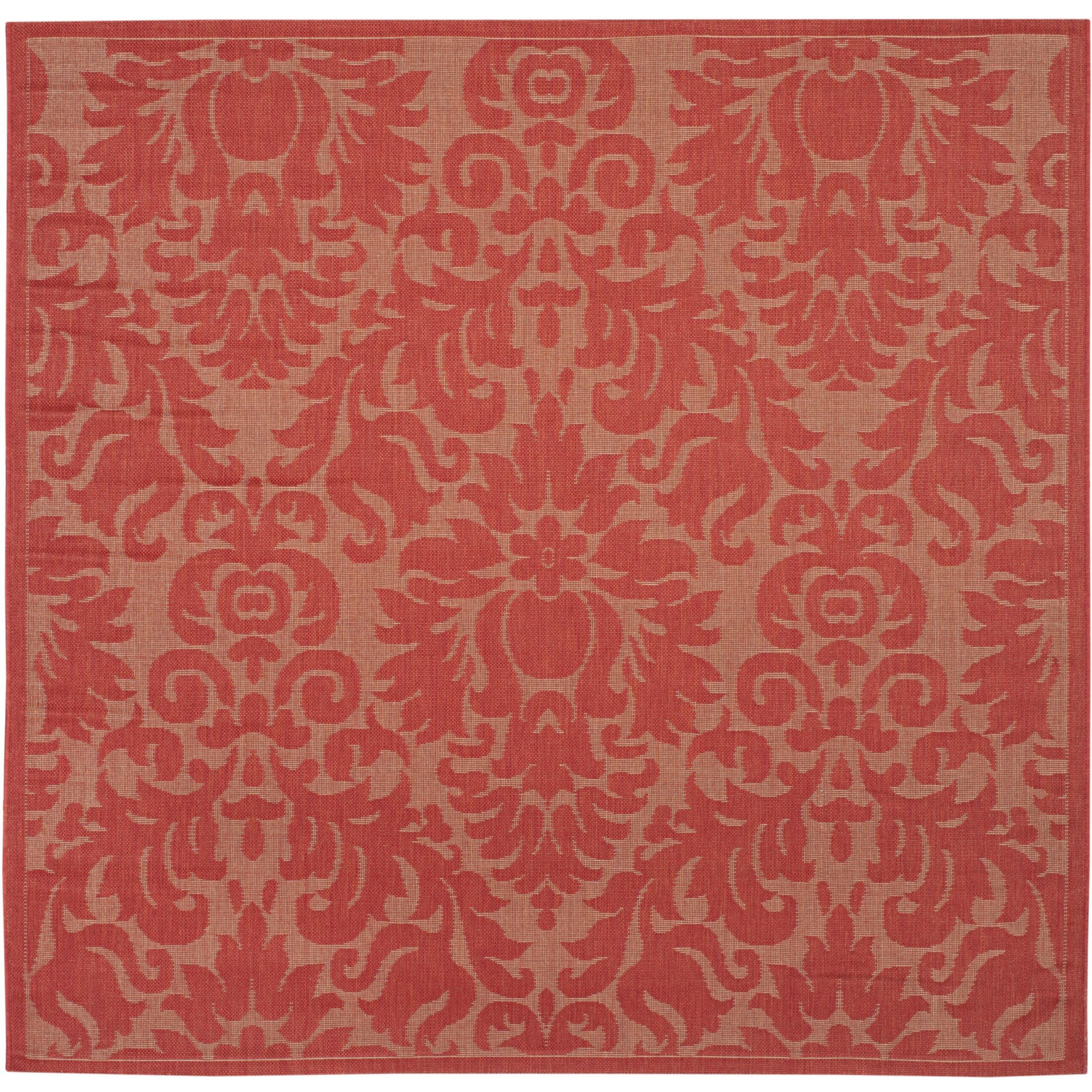 Catori Red Solid Outdoor Area Rug Rug Size: Rectangle 5'3