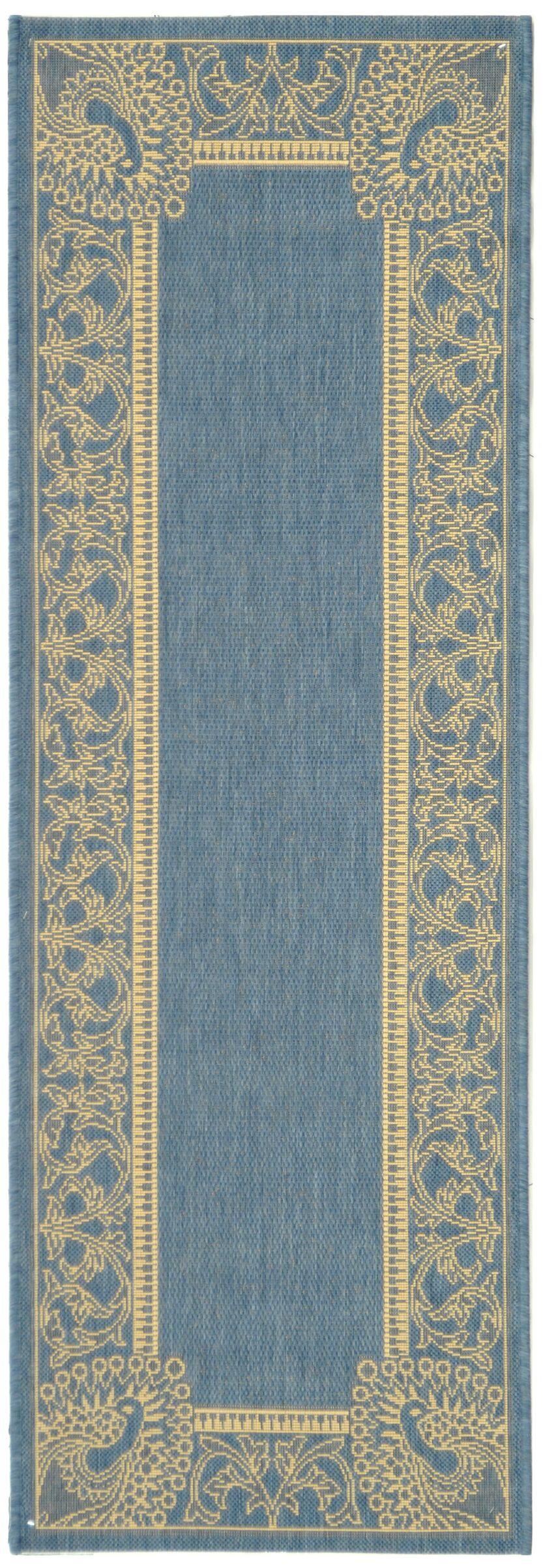 Catori Blue/Natural Rug Rug Size: Runner 2'3