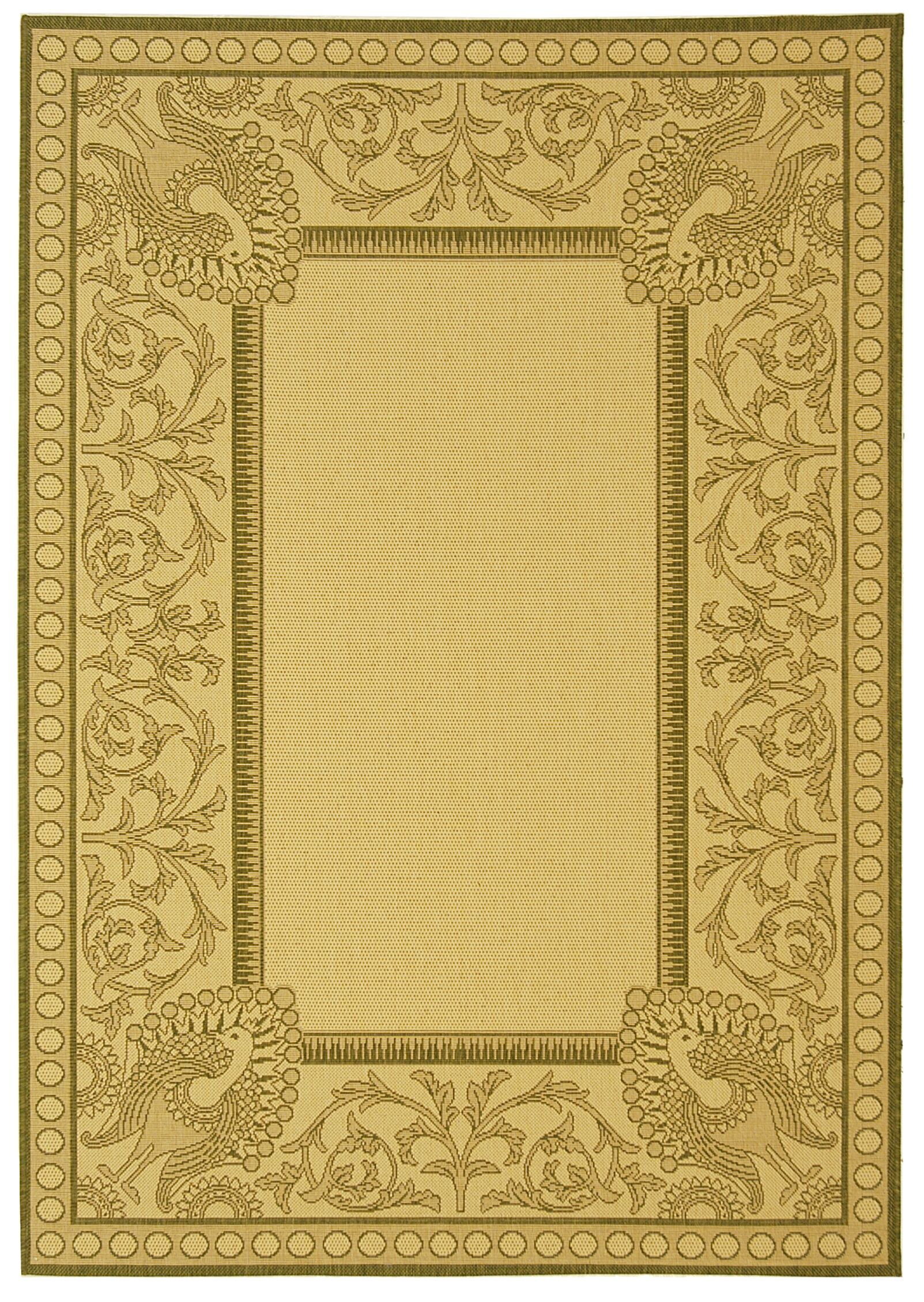 Catori Natural / Olive Outdoor Area Rug Rug Size: Rectangle 5'3