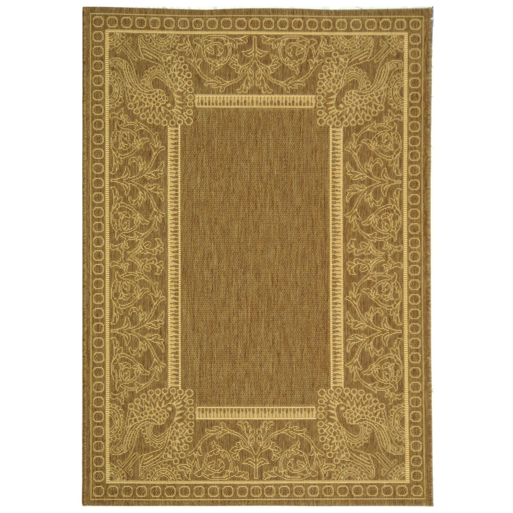 Catori Brown/Natural Rug Rug Size: Rectangle 2' x 3'7