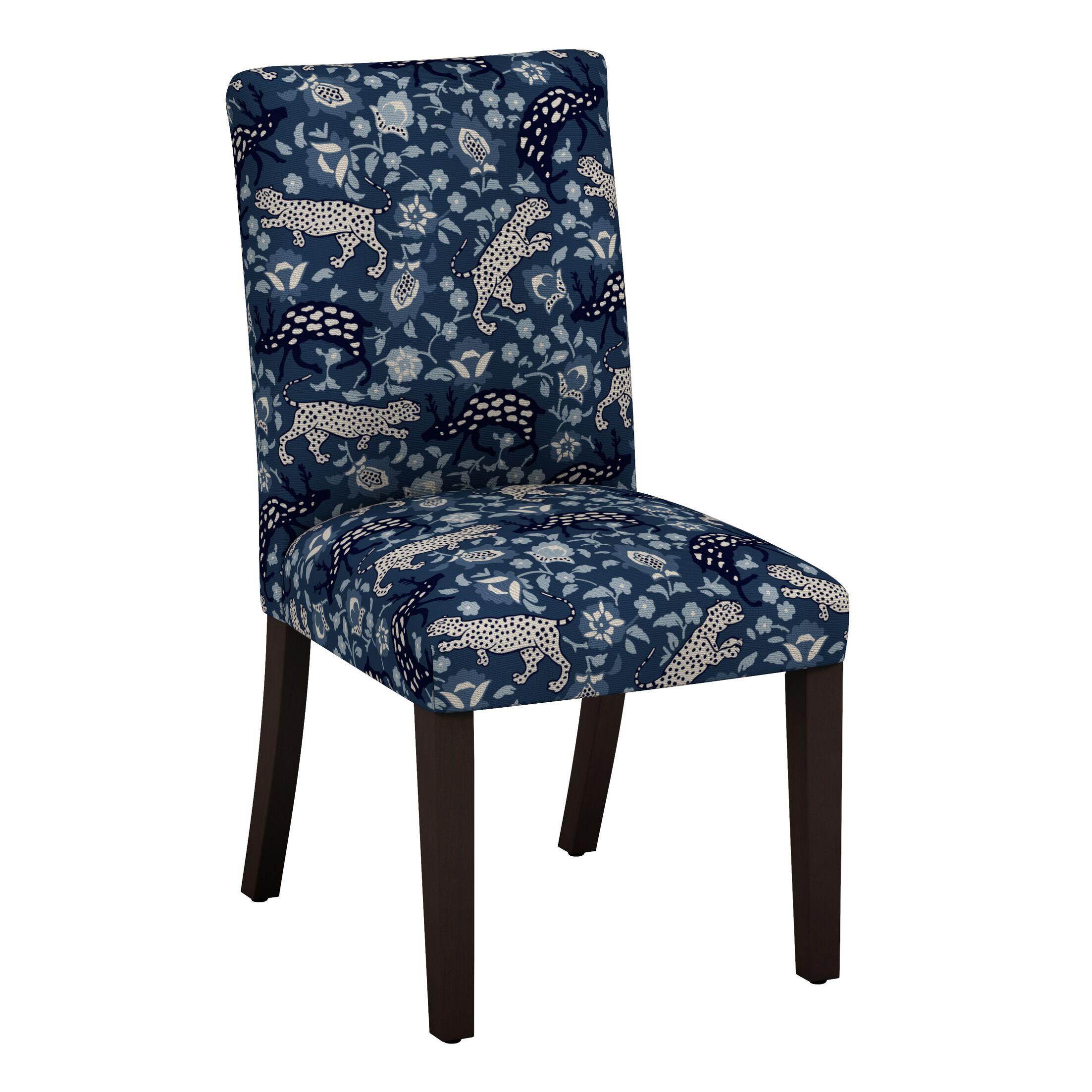 Abril Leopard Parsons Chair