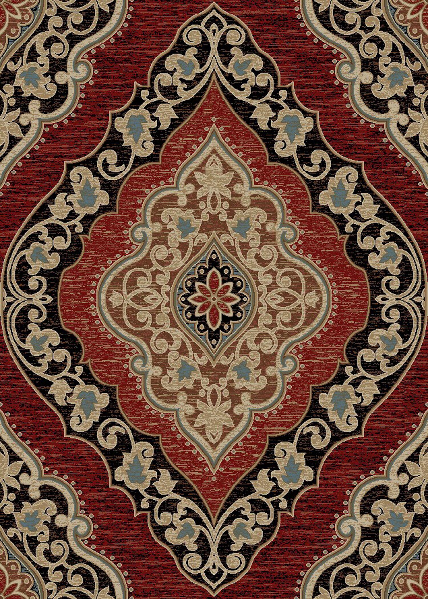 Emery Amelia Red Area Rug Rug Size: 8' x 10'