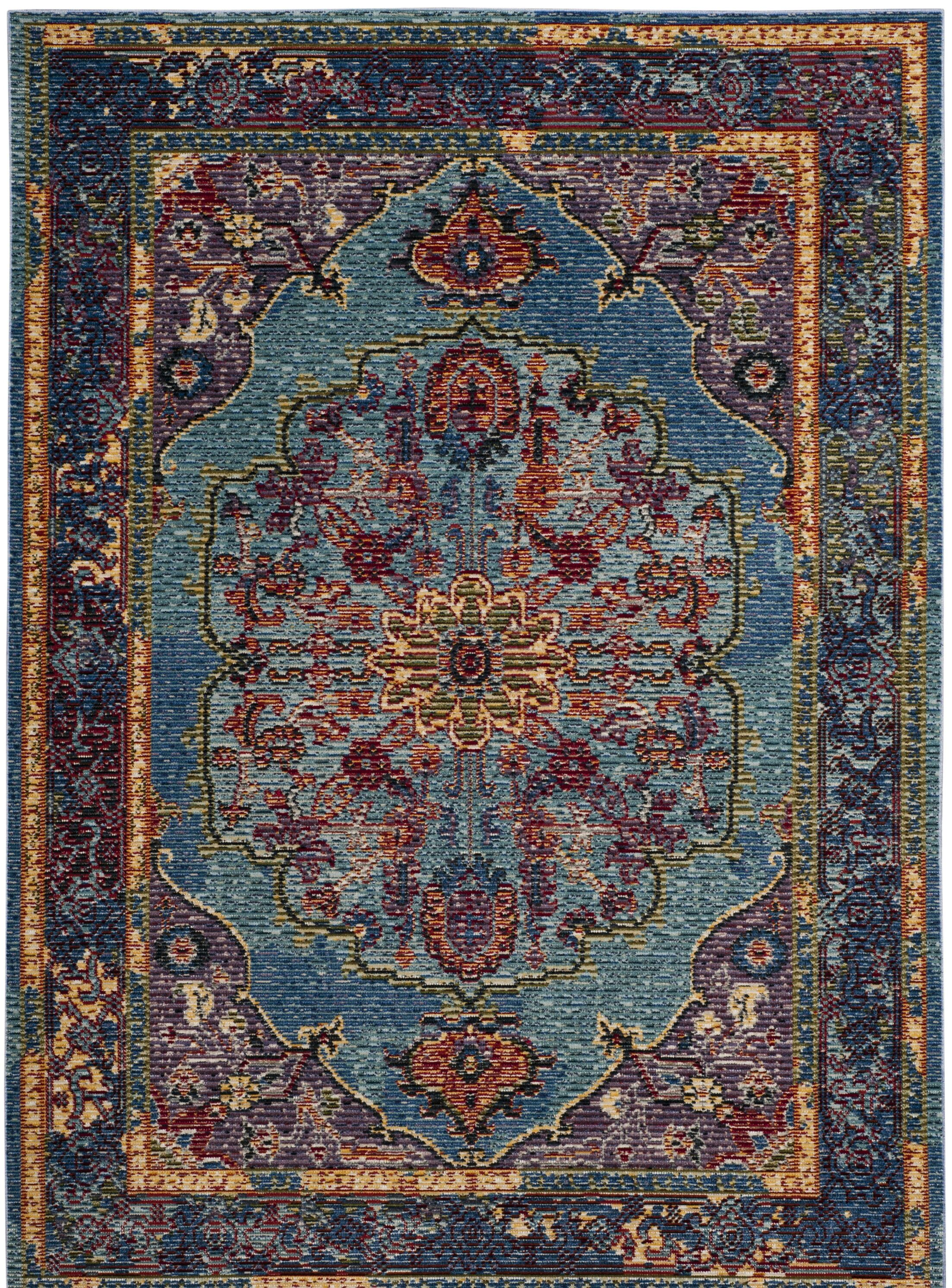 Skye Blue/Purple Area Rug Rug Size: Rectangle 4' x 6'