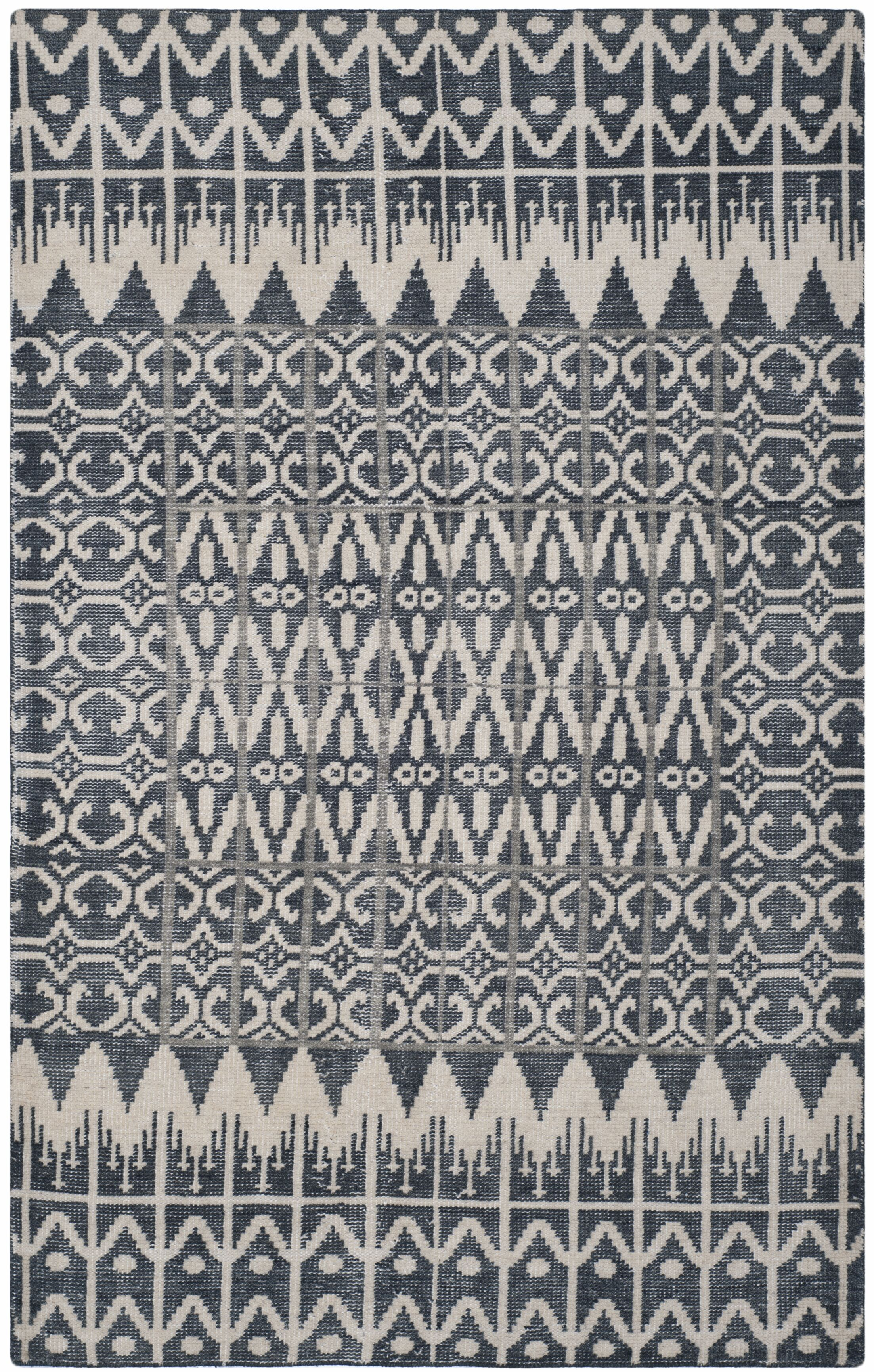 Xue Charcoal Contemporary Area Rug Rug Size: Rectangle 6' x 9'