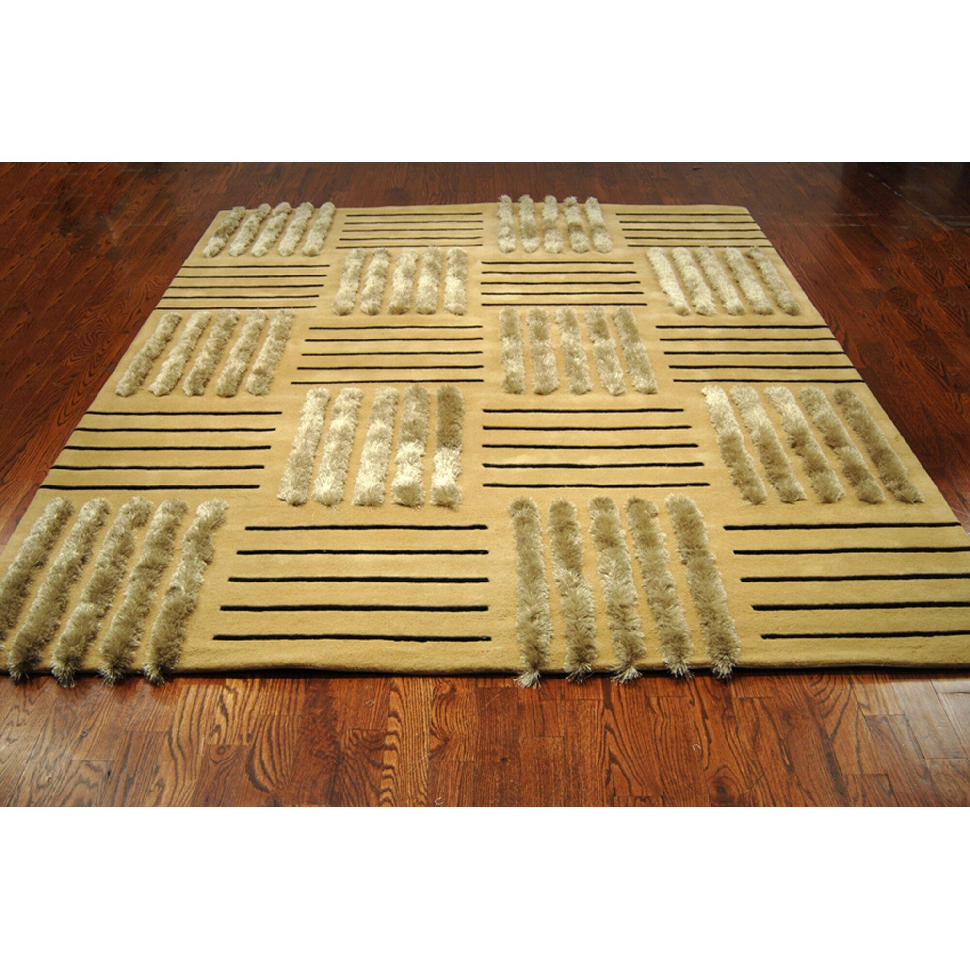 Dorthy Gold Area Rug Rug Size: Rectangle 3'6