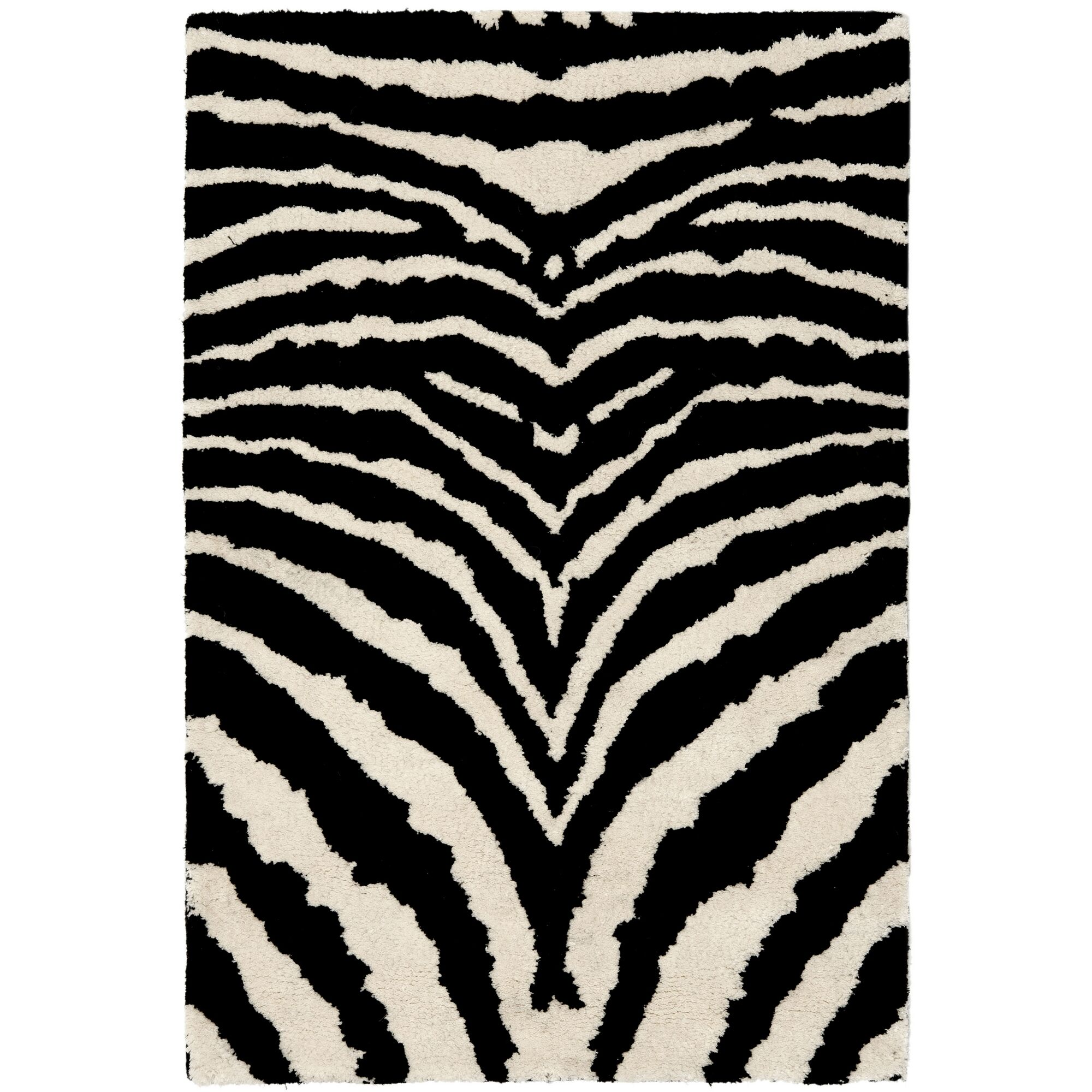 Dorthy Wool Ivory/Black Area Rug Rug Size: Rectangle 9'6