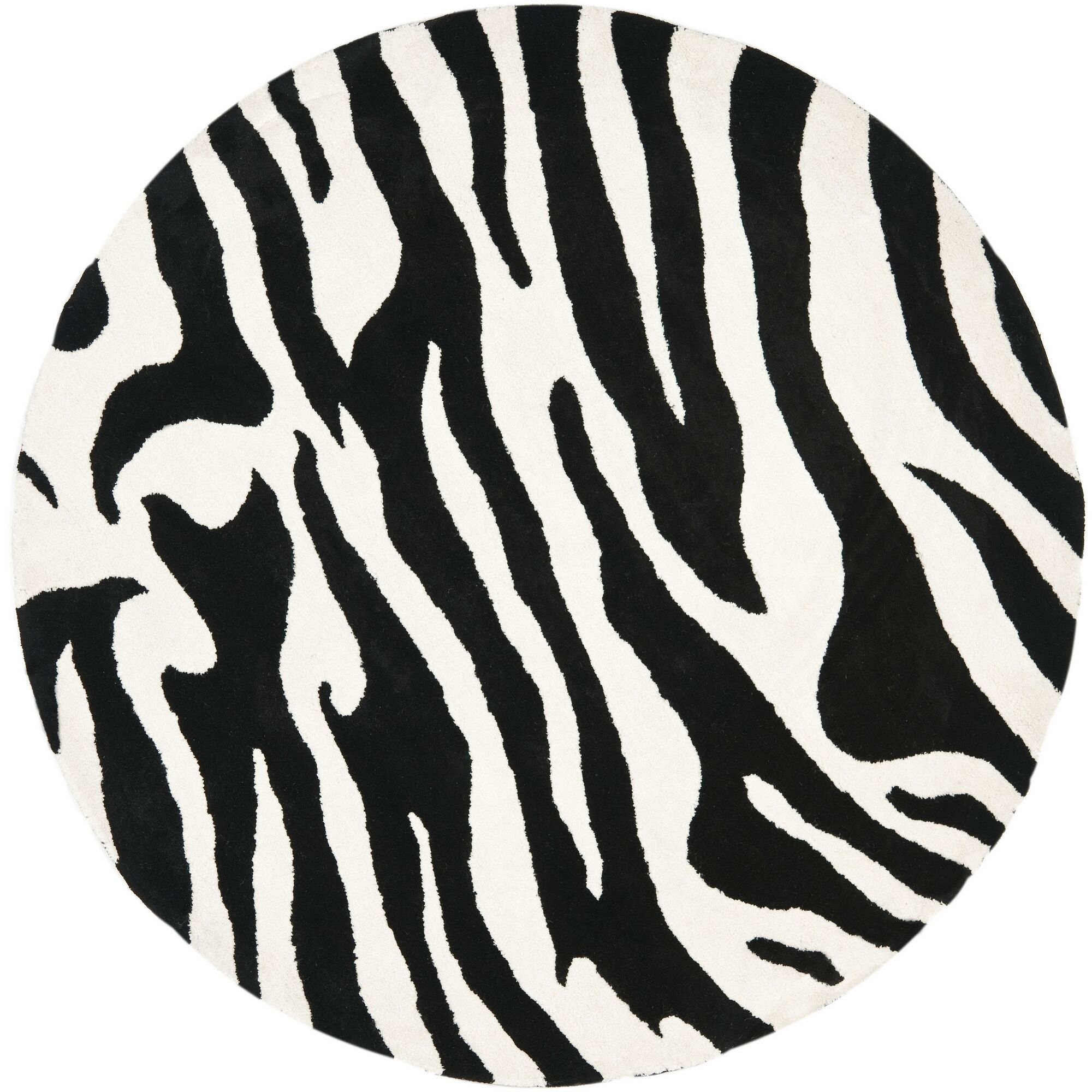 Dorthy White/Black Area Rug Rug Size: Rectangle 5' x 8'