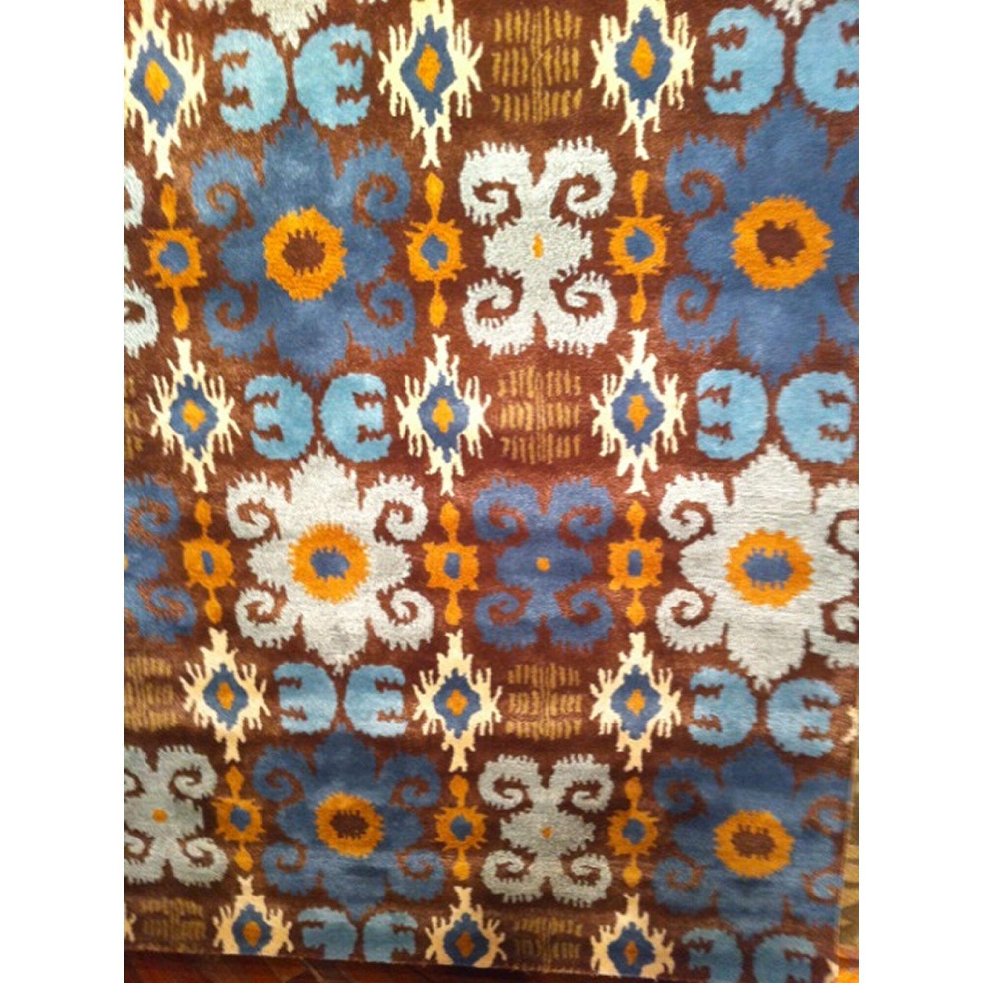 Alvan Brown/Blue Rug Rug Size: Rectangle 7'6