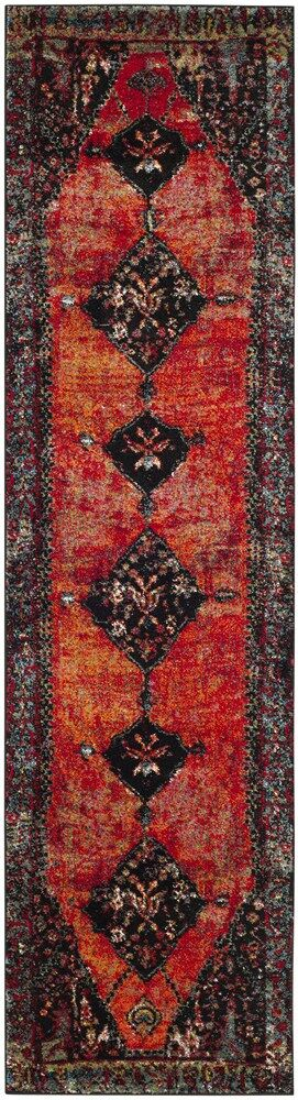 Rangel Orange Area Rug Rug Size: Runner 2'2