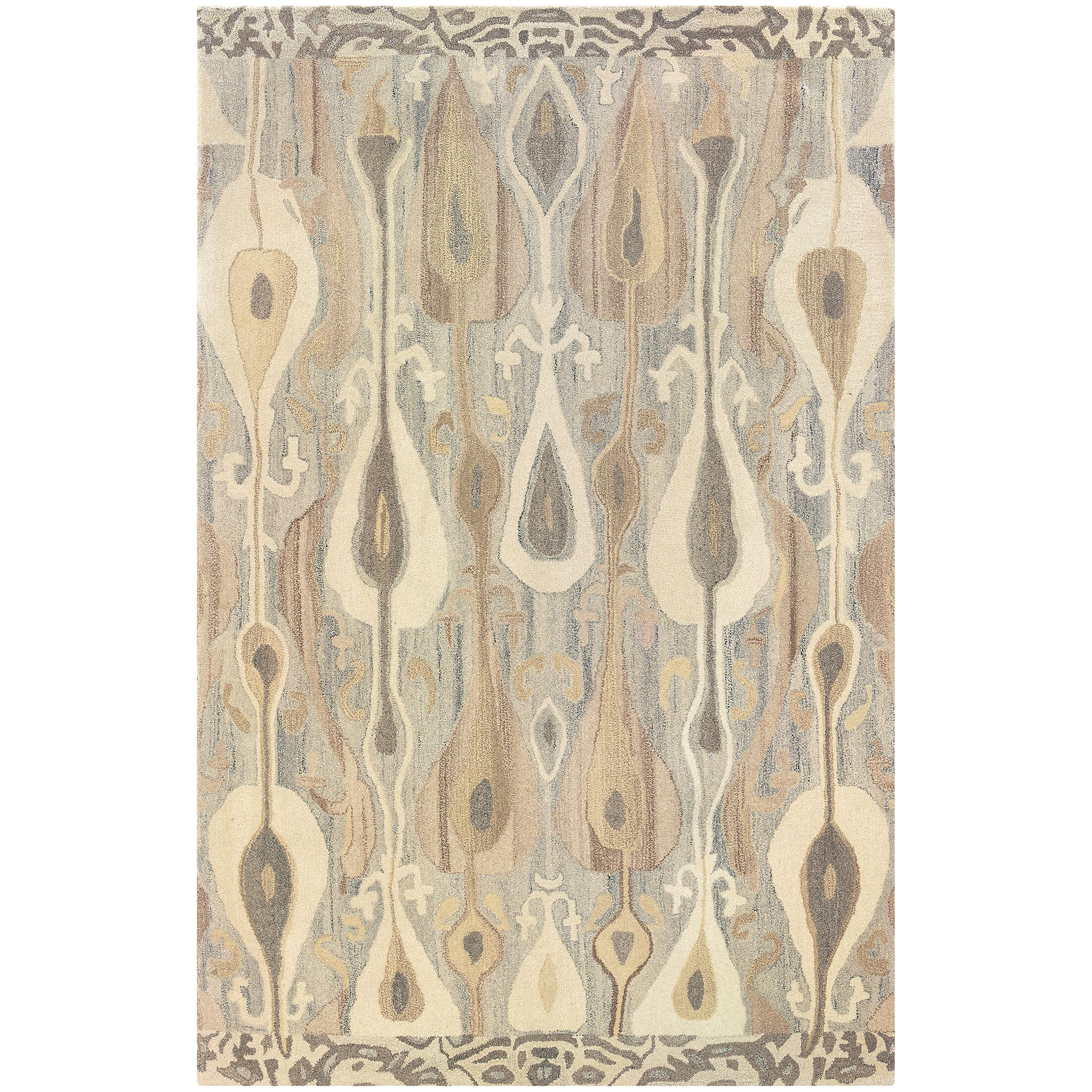 Mireille Hand-Woven Green/Beige Area Rug Rug Size: Rectangle 8' x 10'