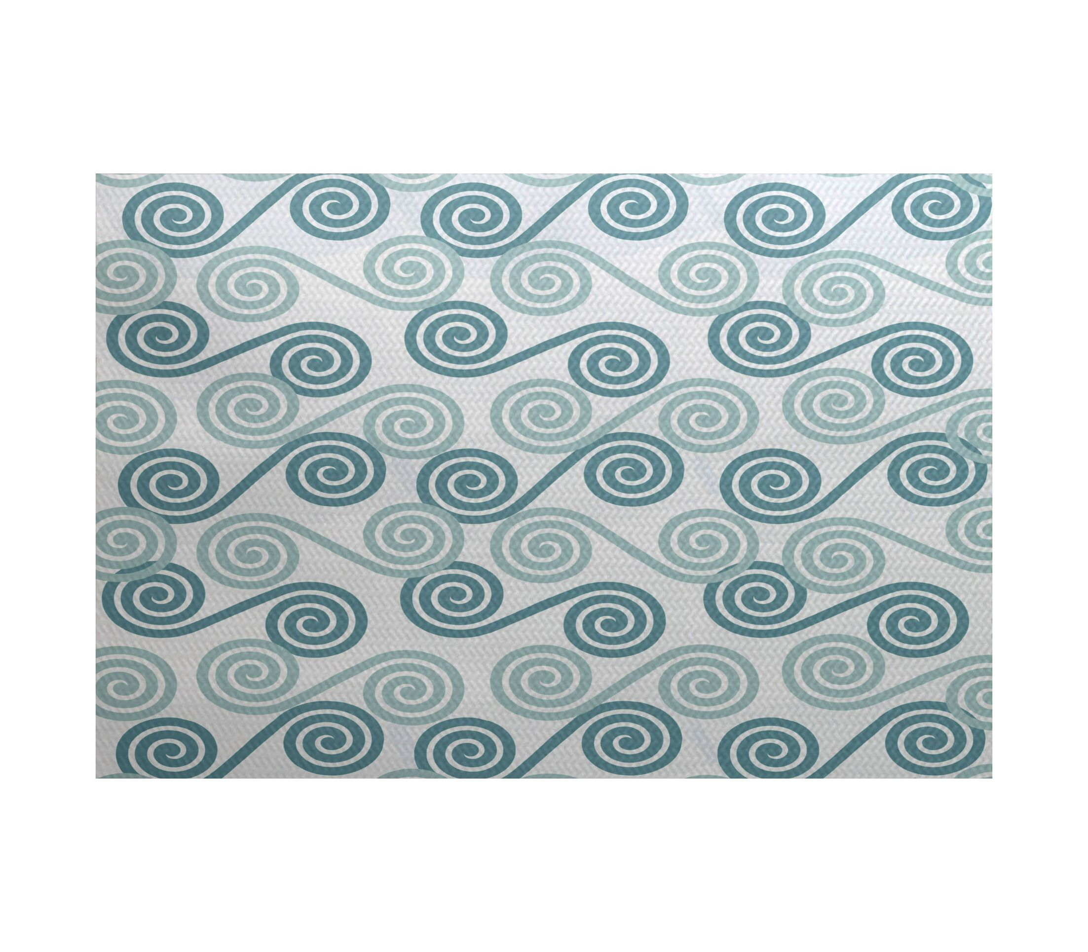 Nikkle Gray/Green Indoor/Outdoor Area Rug Rug Size: Rectangle 3' x 5'