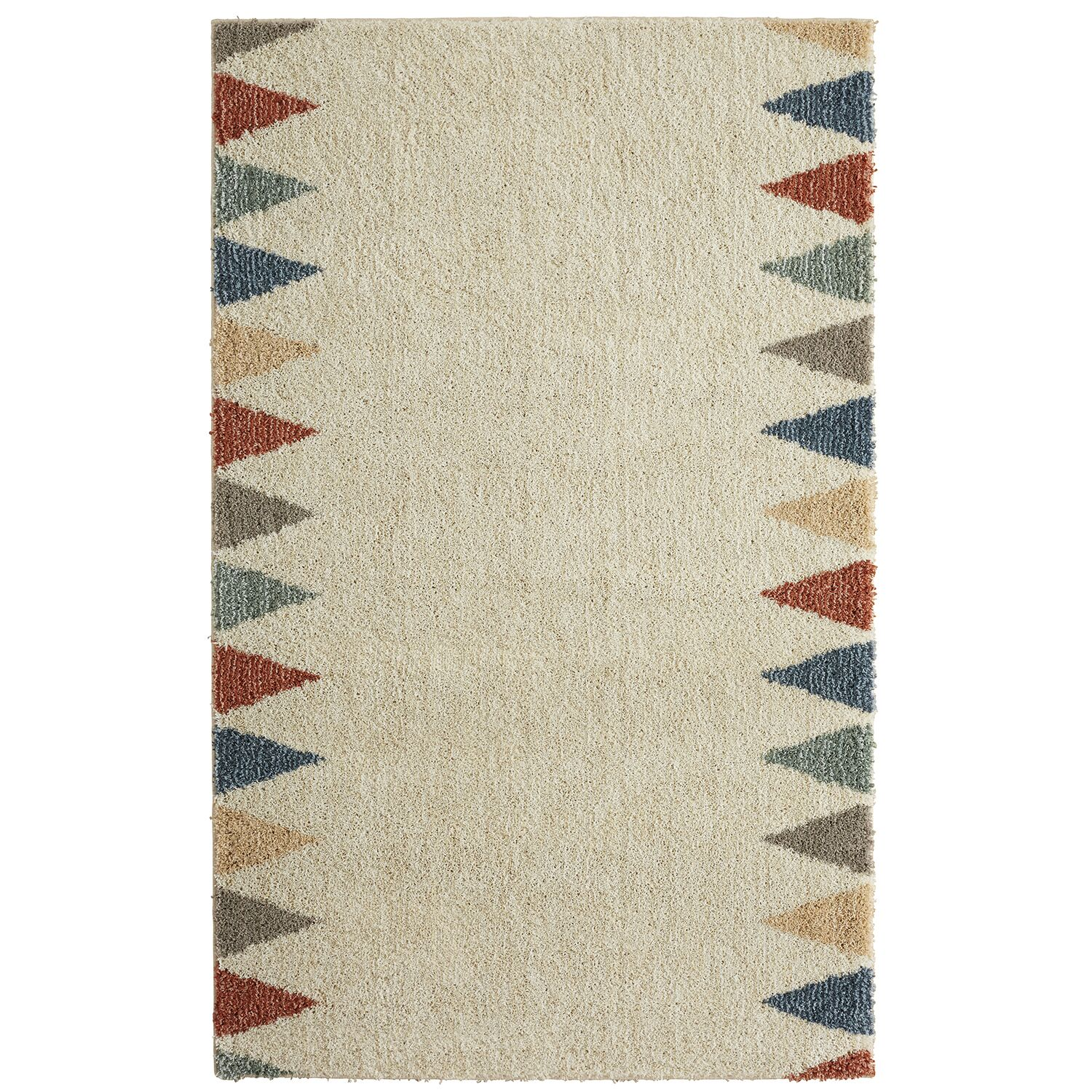 Santina Power Loom Synthetic Beige Area Rug Rug Size: Rectangle 5' x 8'