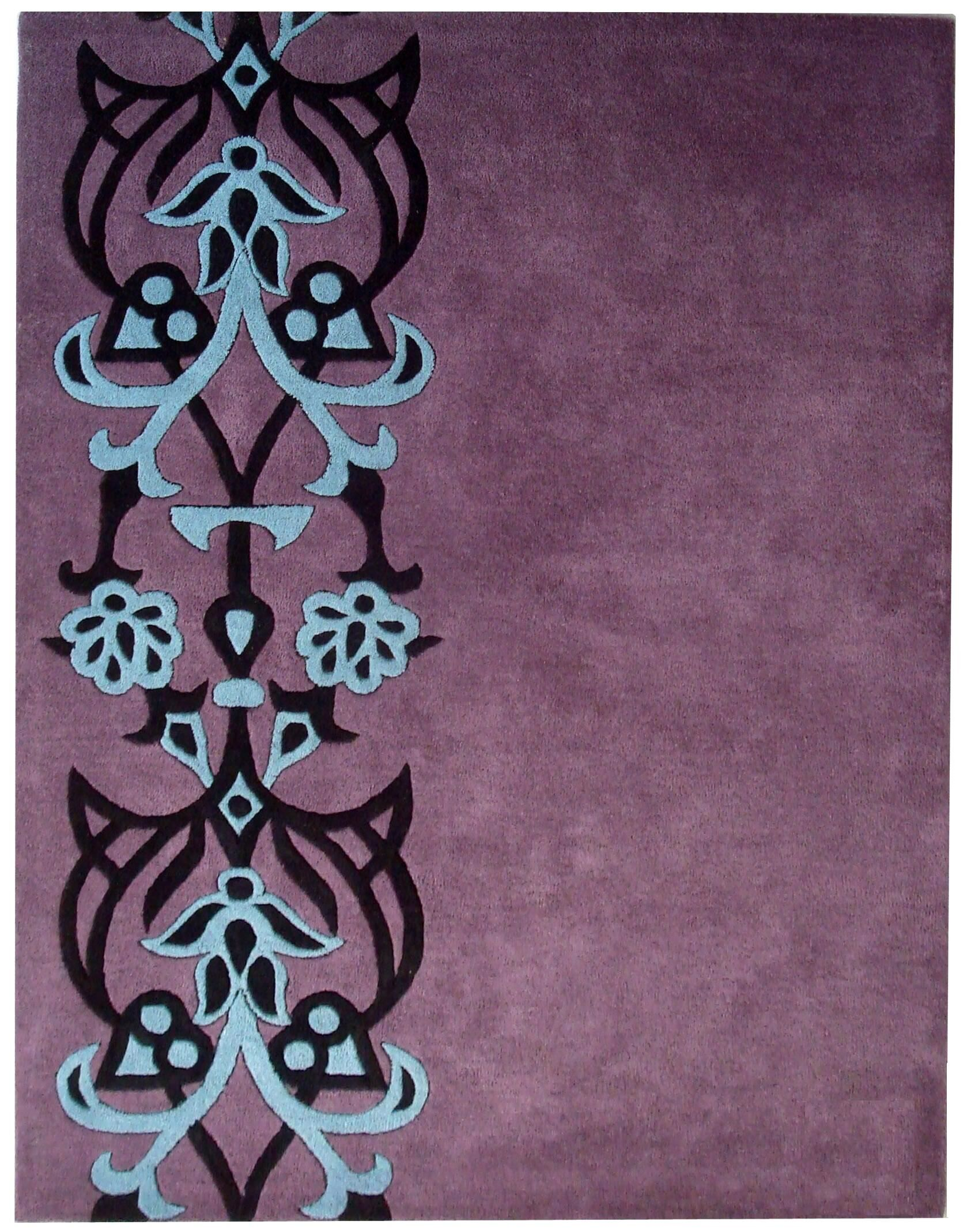 Dorthy Purple/Blue Rug Rug Size: Rectangle 5' x 8'