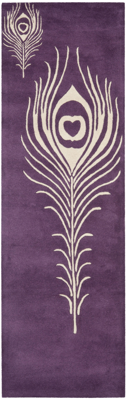 Dorthy Purple & Ivory Area Rug Rug Size: Runner 2'6