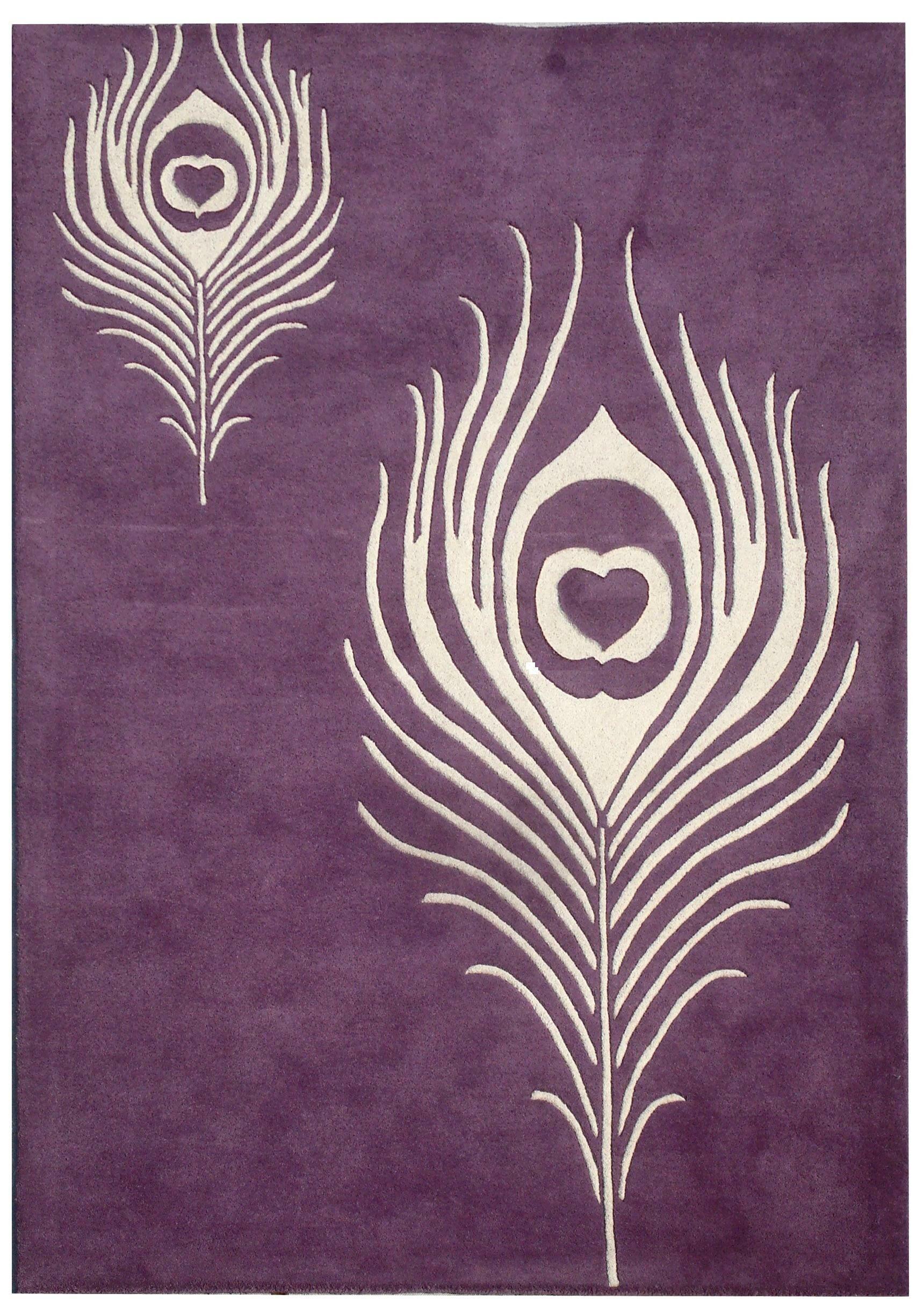 Dorthy Purple & Ivory Area Rug Rug Size: Rectangle 8'3