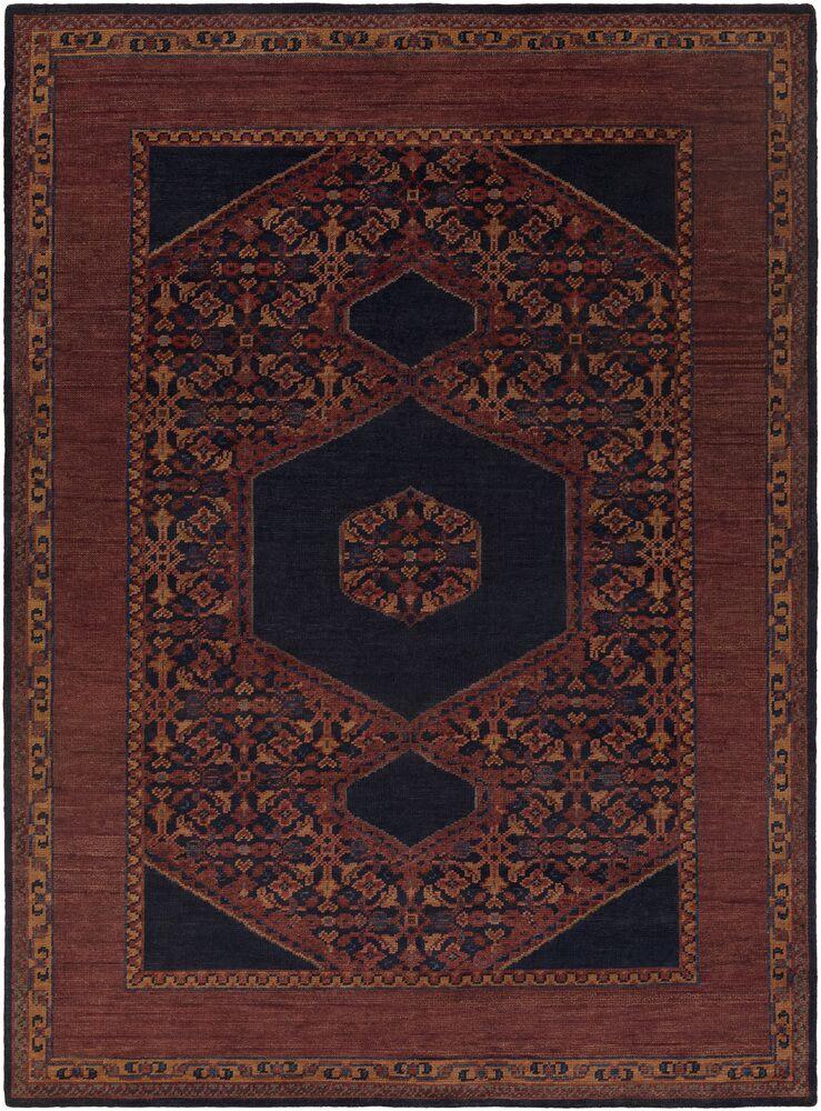 Bonefield Burgundy Oriental Area Rug Rug Size: Rectangle 8' x 11'