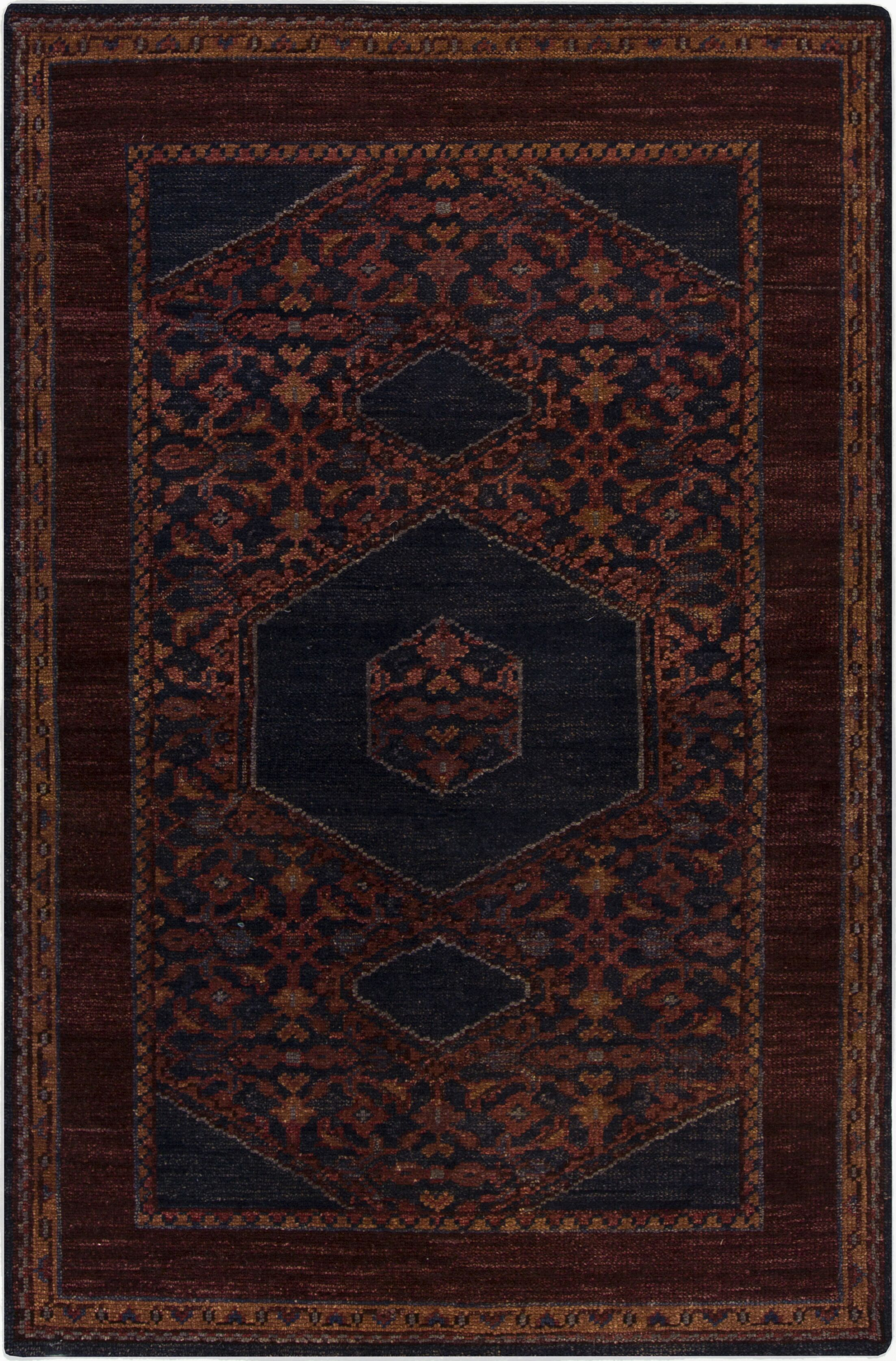 Bonefield Burgundy Oriental Area Rug Rug Size: Rectangle 5'6