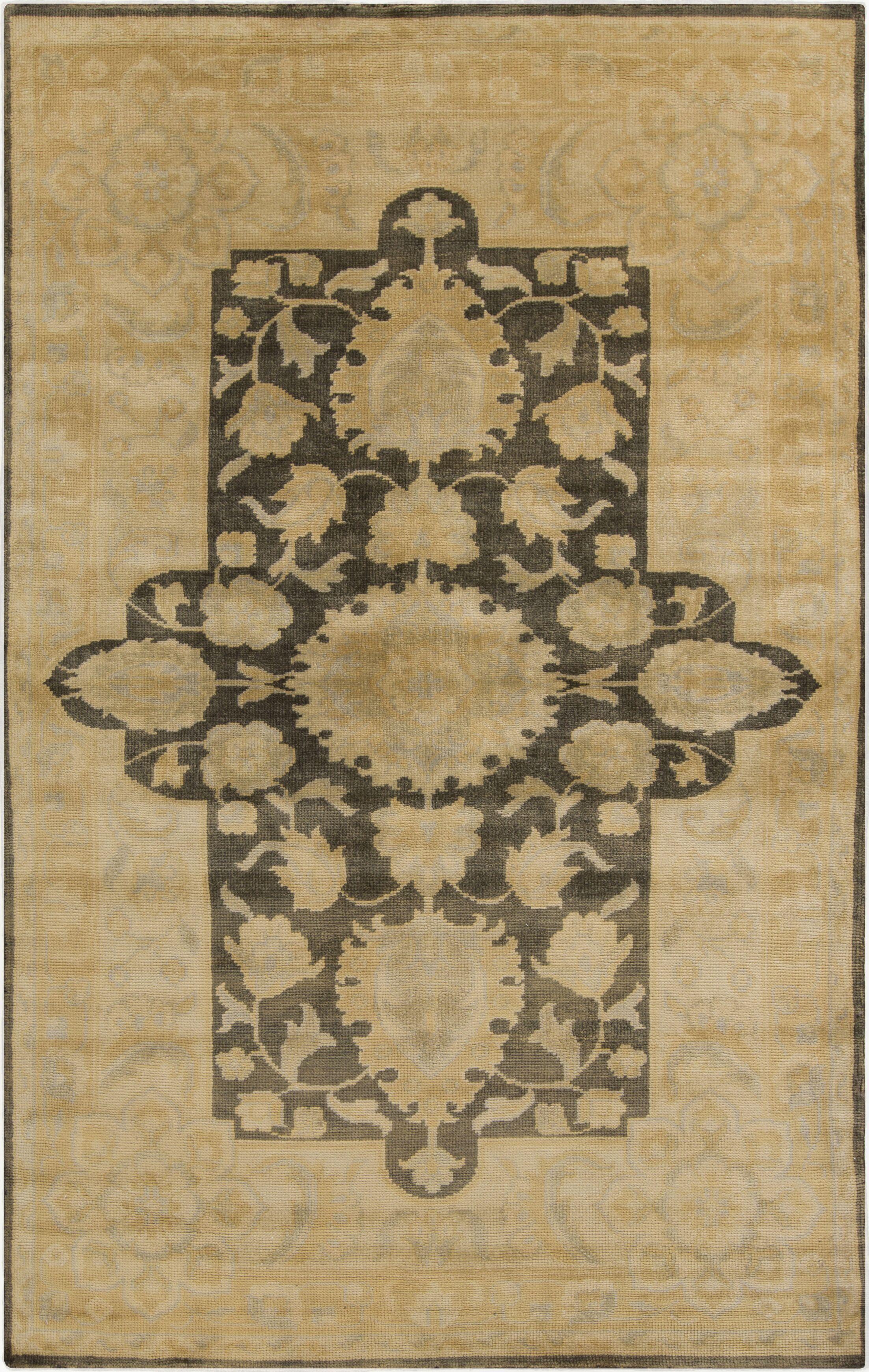 Fernald Beige Area Rug Rug Size: Rectangle 5'6