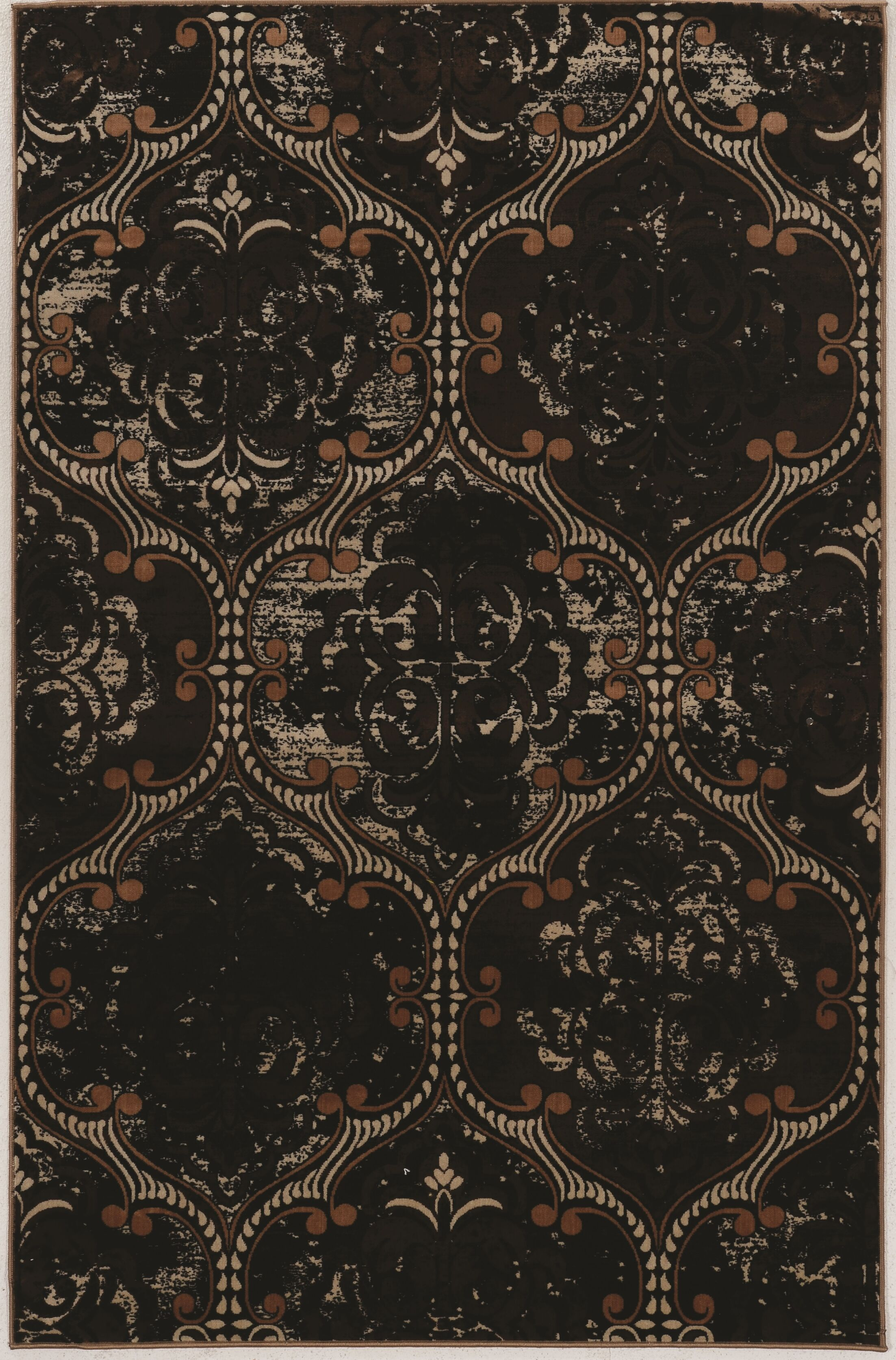 Ateao Hand-Loomed Brown Area Rug Rug Size: Rectangle 8' x 10'