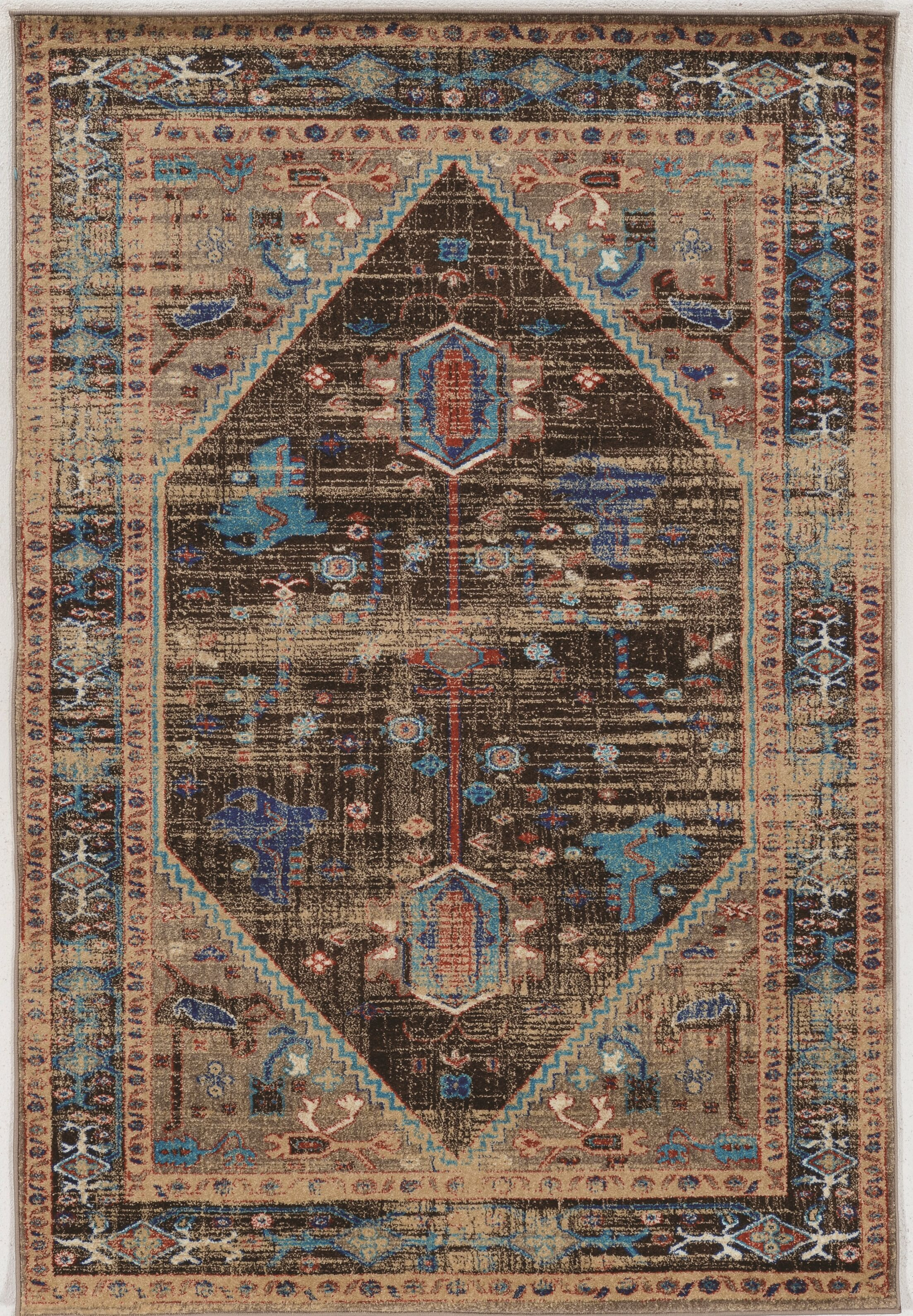 Shelie Heriz Brown Area Rug Rug Size: Rectangle 5' x 7'6