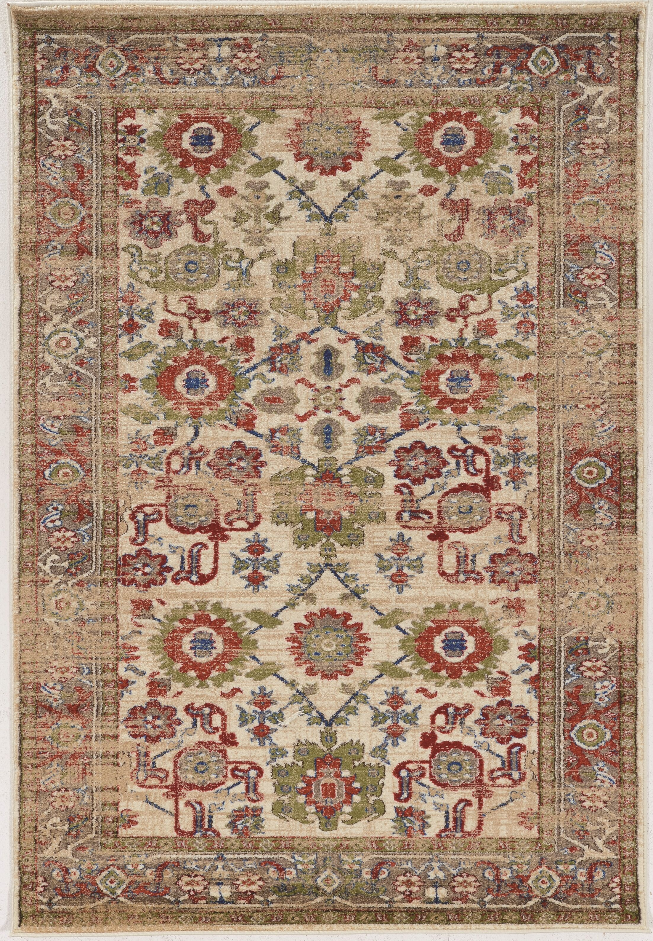 Shelie Mahal Ivory Area Rug Rug Size: Rectangle 5' x 7'6