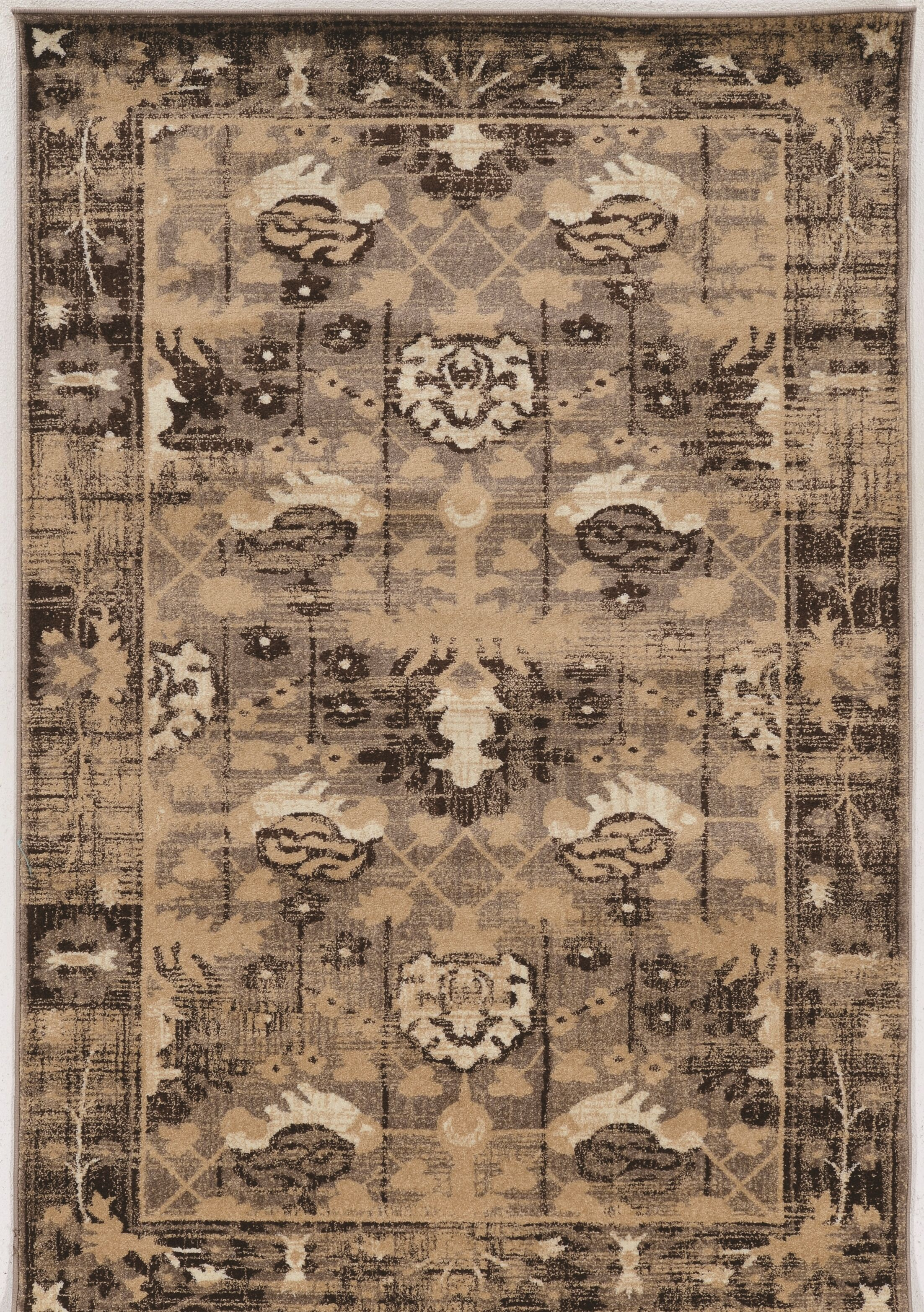 Shelie Hamadan Beige Area Rug Rug Size: Rectangle 5' x 7'6
