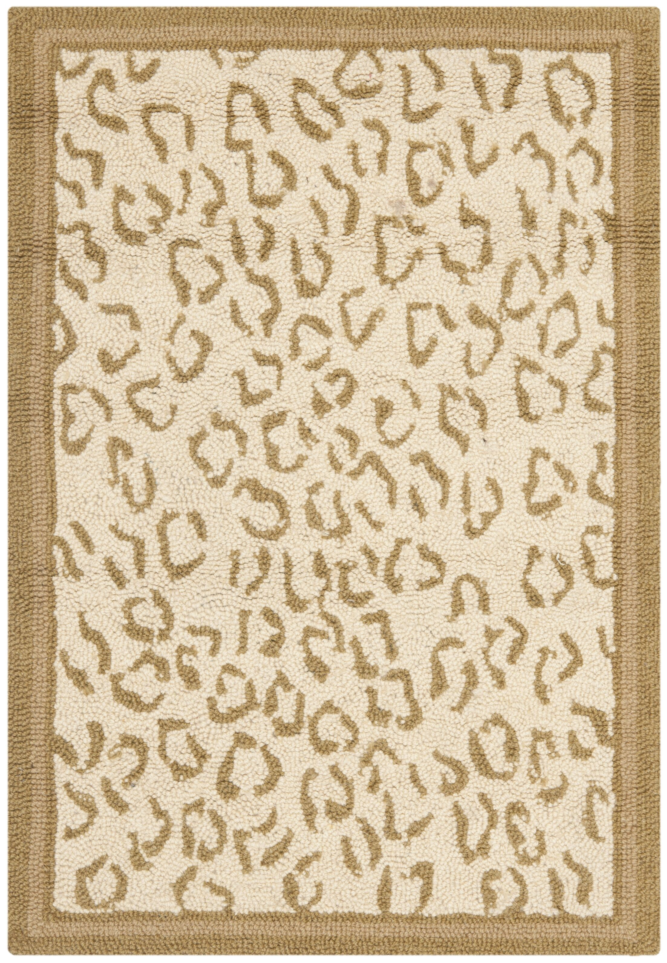 Greenock Leopard Print Rug Rug Size: Runner 2'6