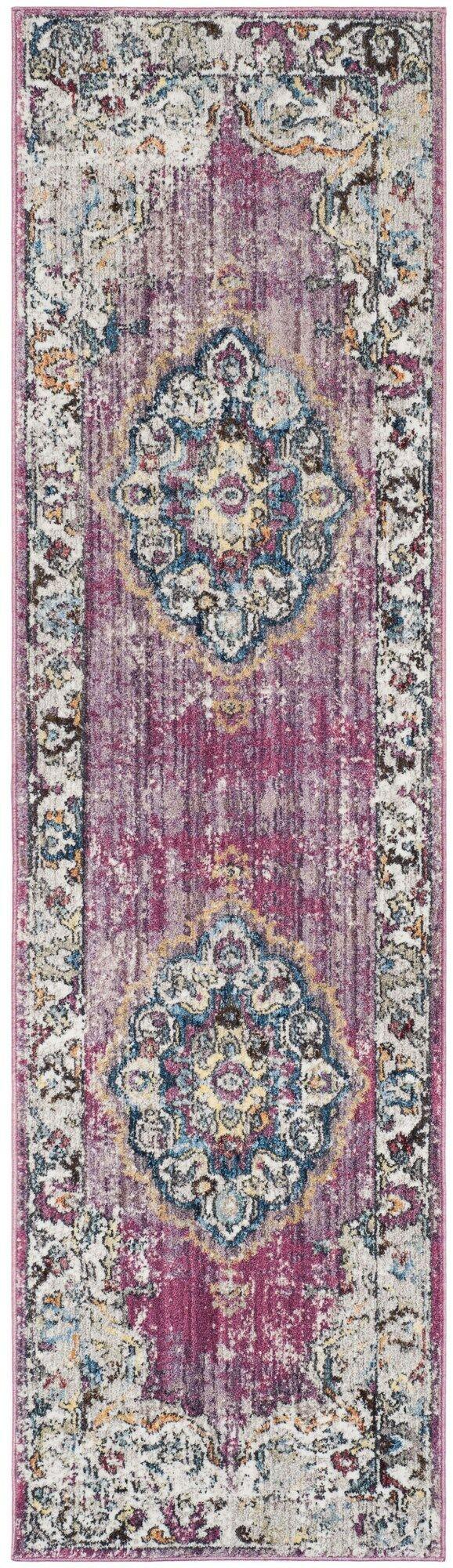 Culross Rose/Purple Area Rug Rug Size: Rectangle 3' x 5'