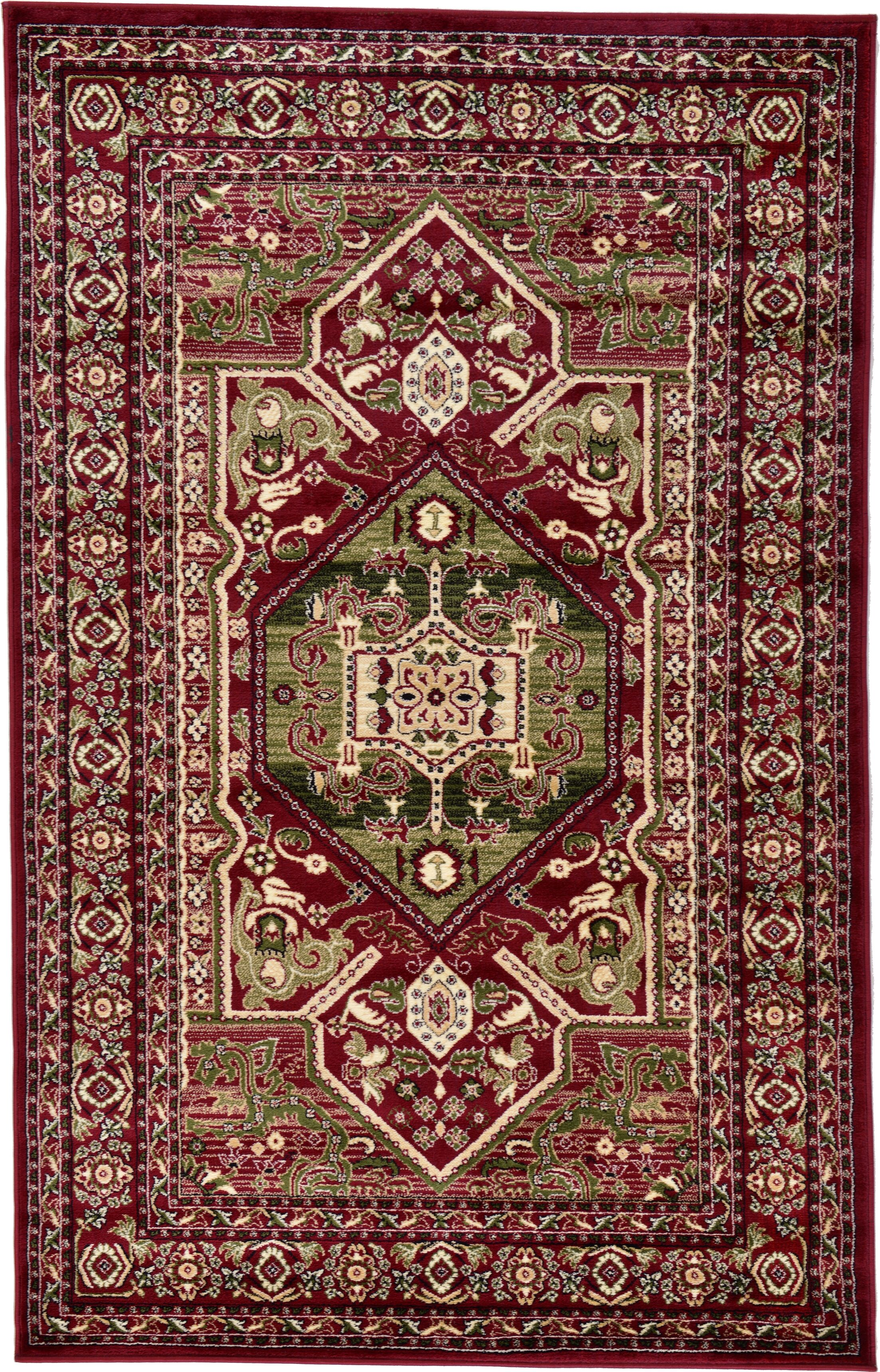 Valley Red Area Rug Rug Size: Rectangle 5' x 8'