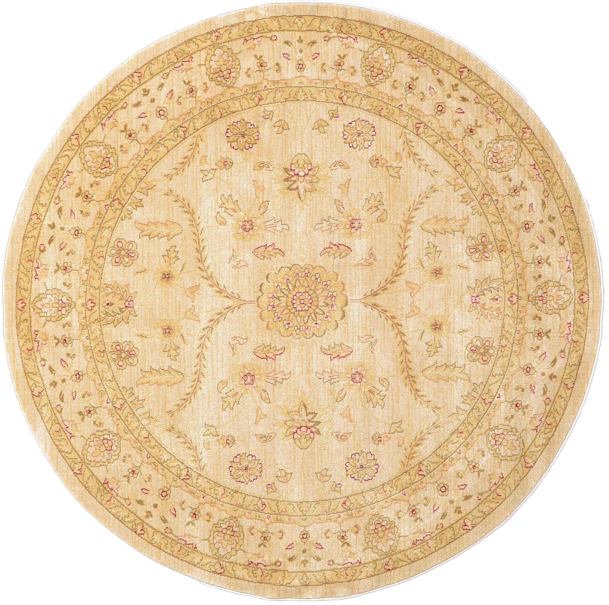 Fonciere Cream Area Rug Rug Size: Round 6'