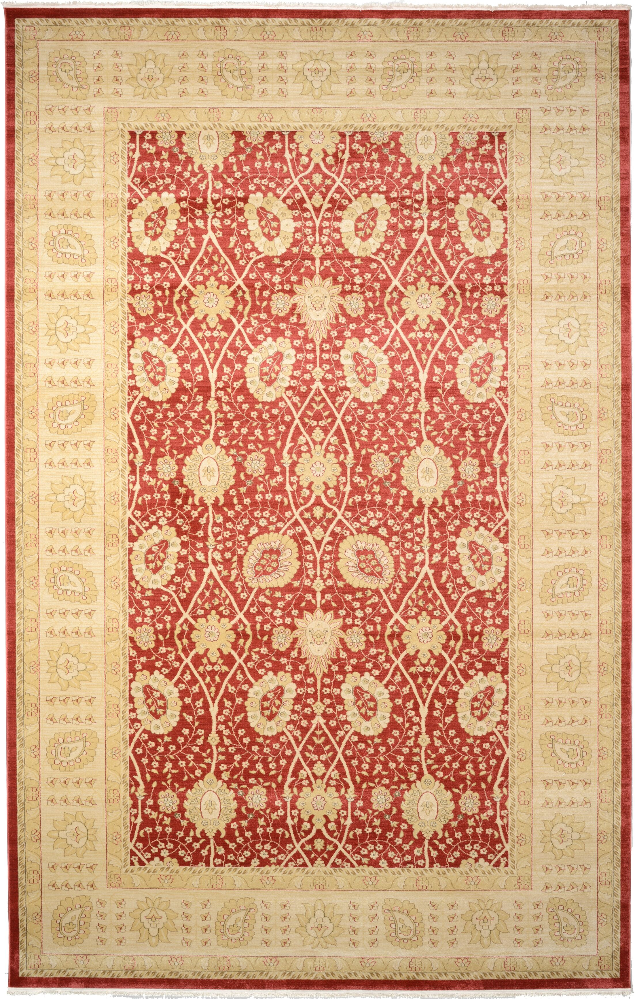 Willow Red Area Rug Rug Size: Rectangle 10'6