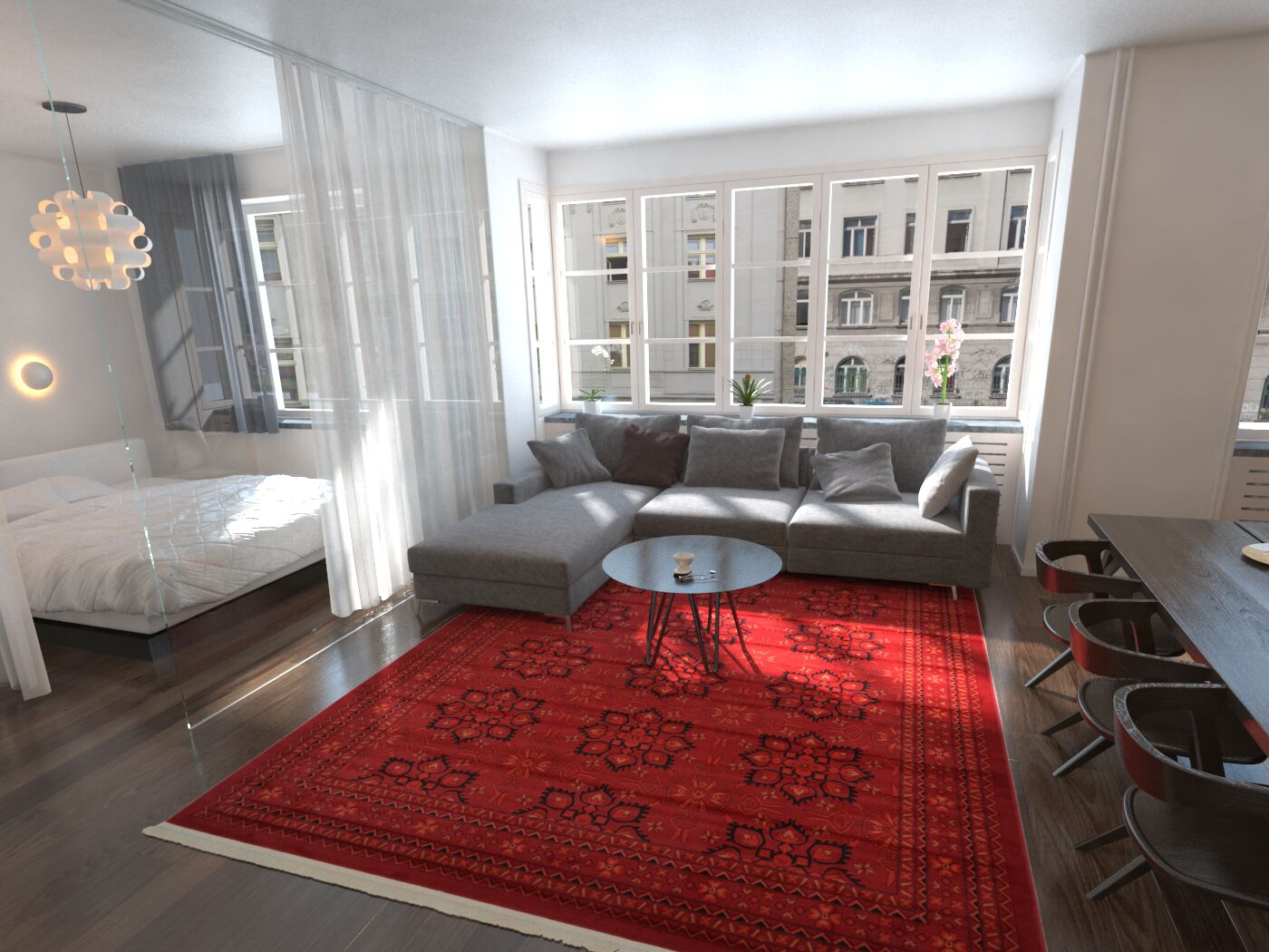 Kowloon Red Area Rug Rug Size: Runner 2'7
