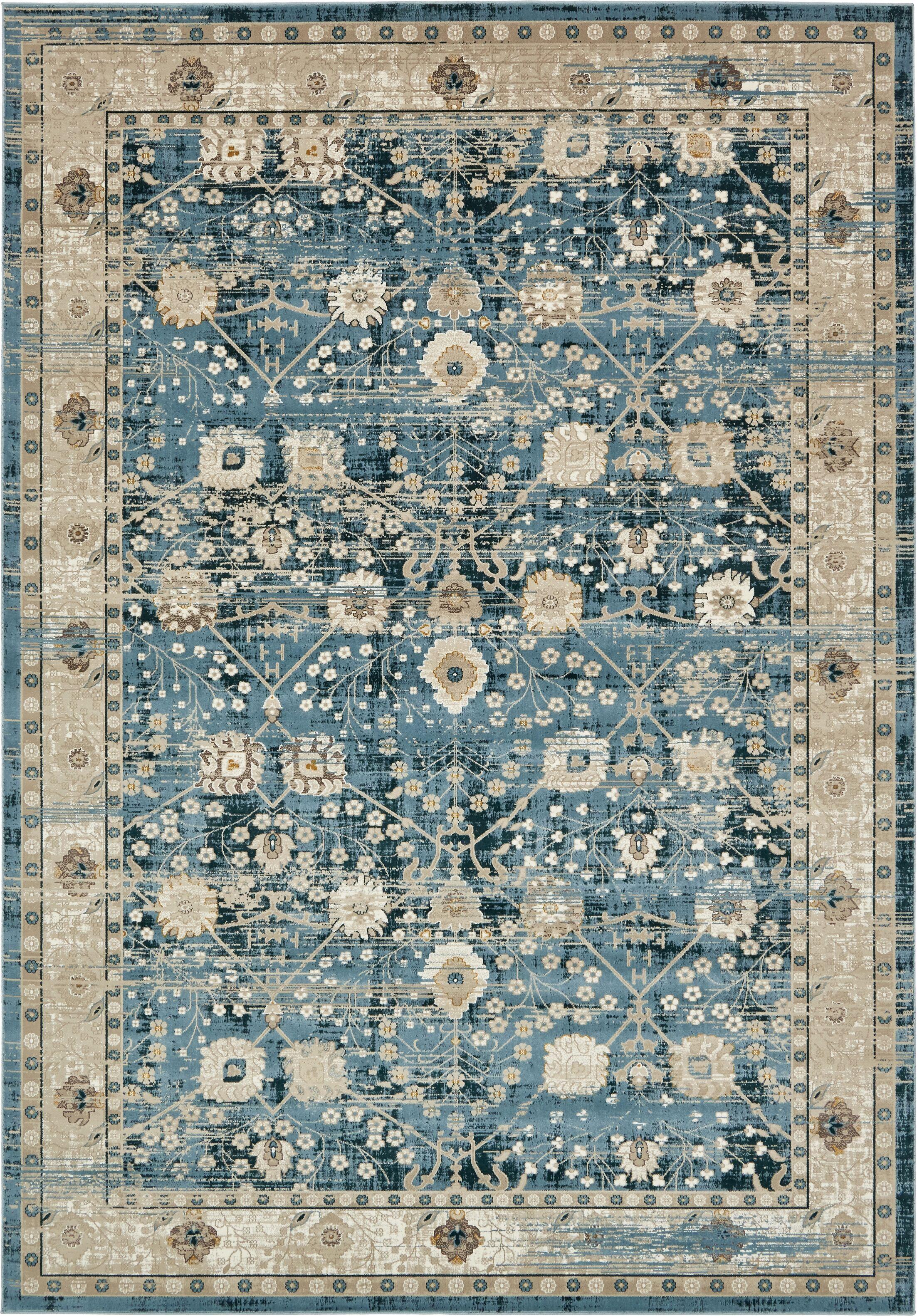 Hurst Dark Blue Area Rug Rug Size: Rectangle 8' x 11'2