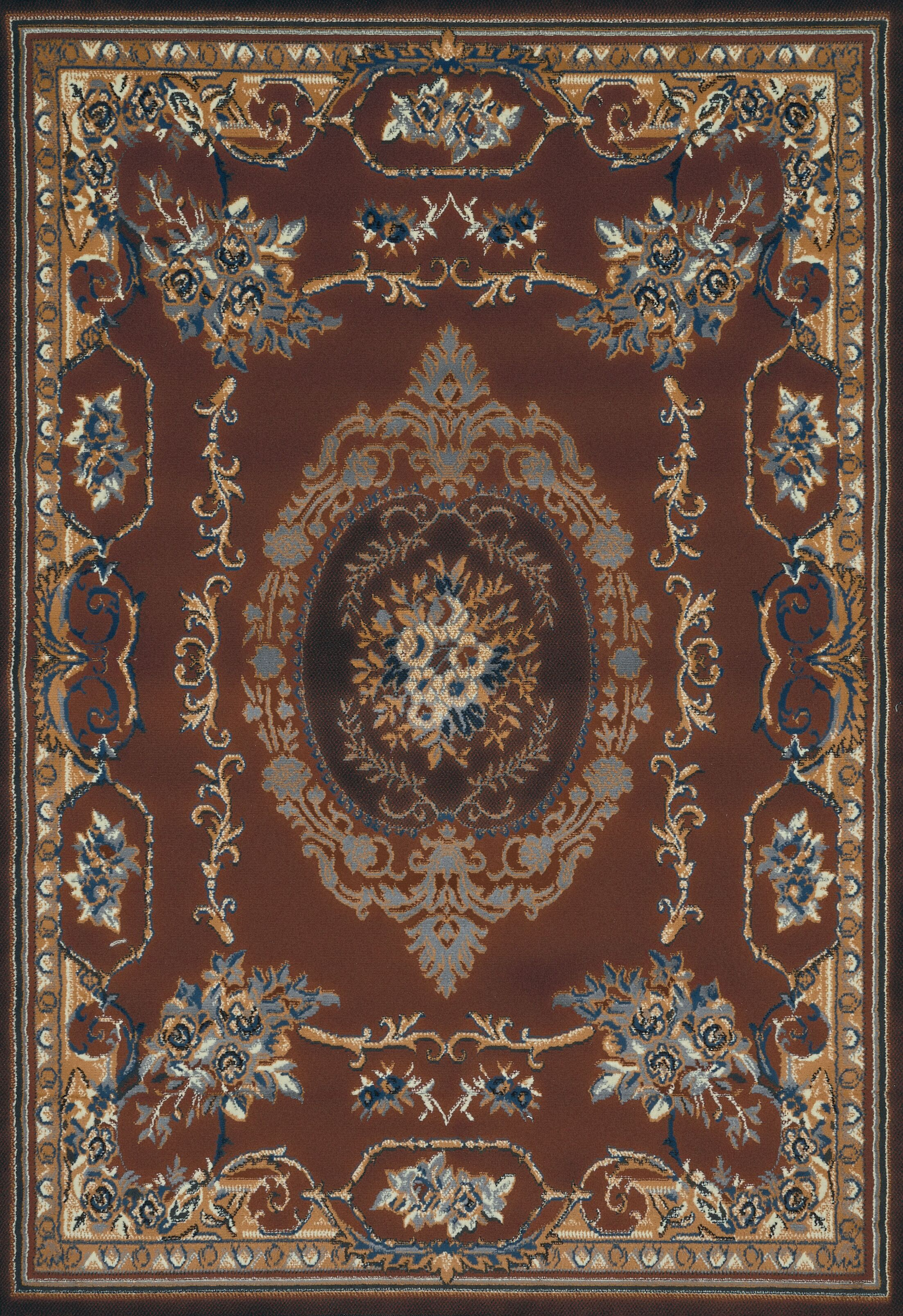Cherelle Brown Area Rug Rug Size: 5'3